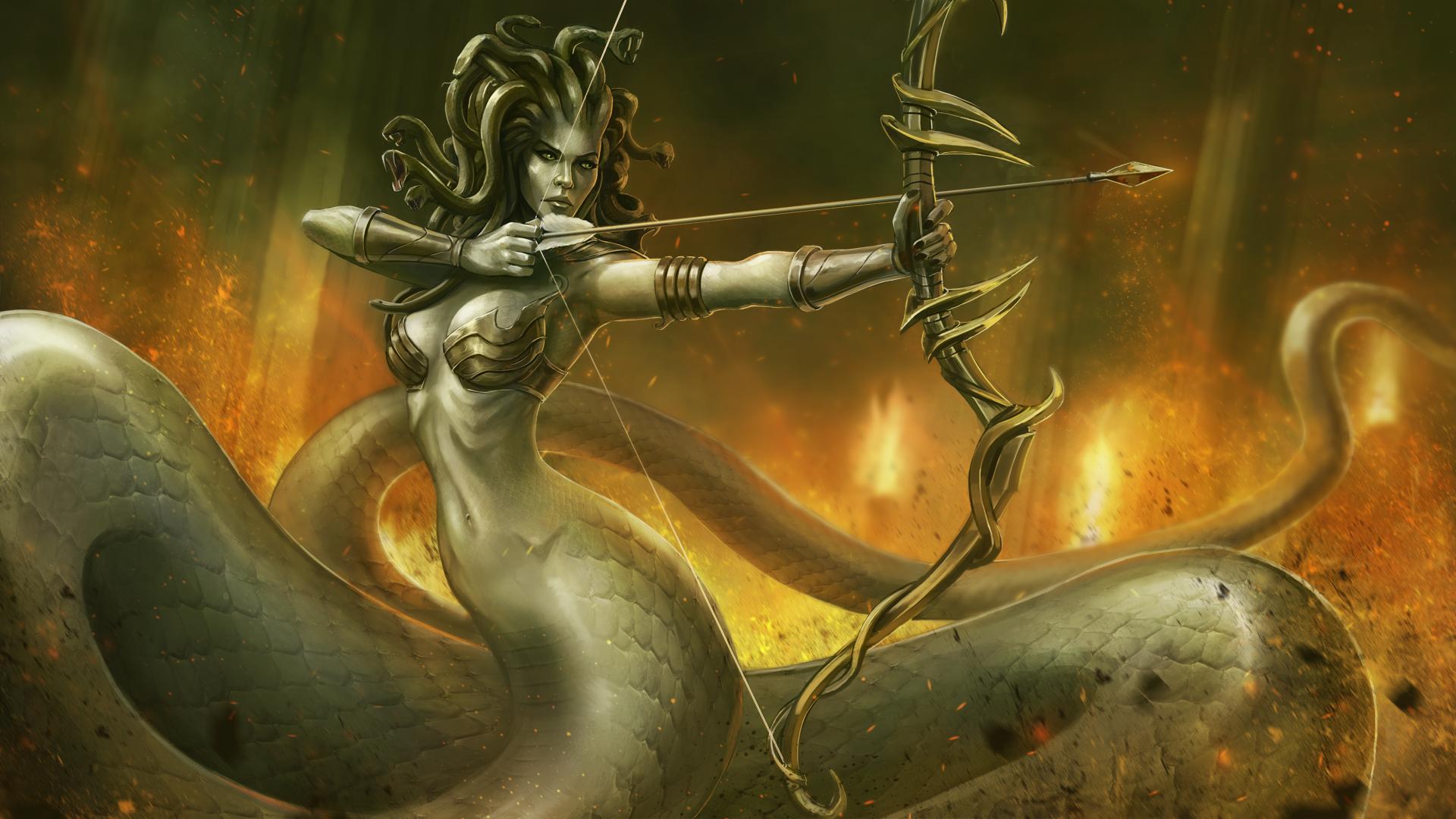 Medusa Battle Illustration by BABAGANOOSH99 on DeviantArt