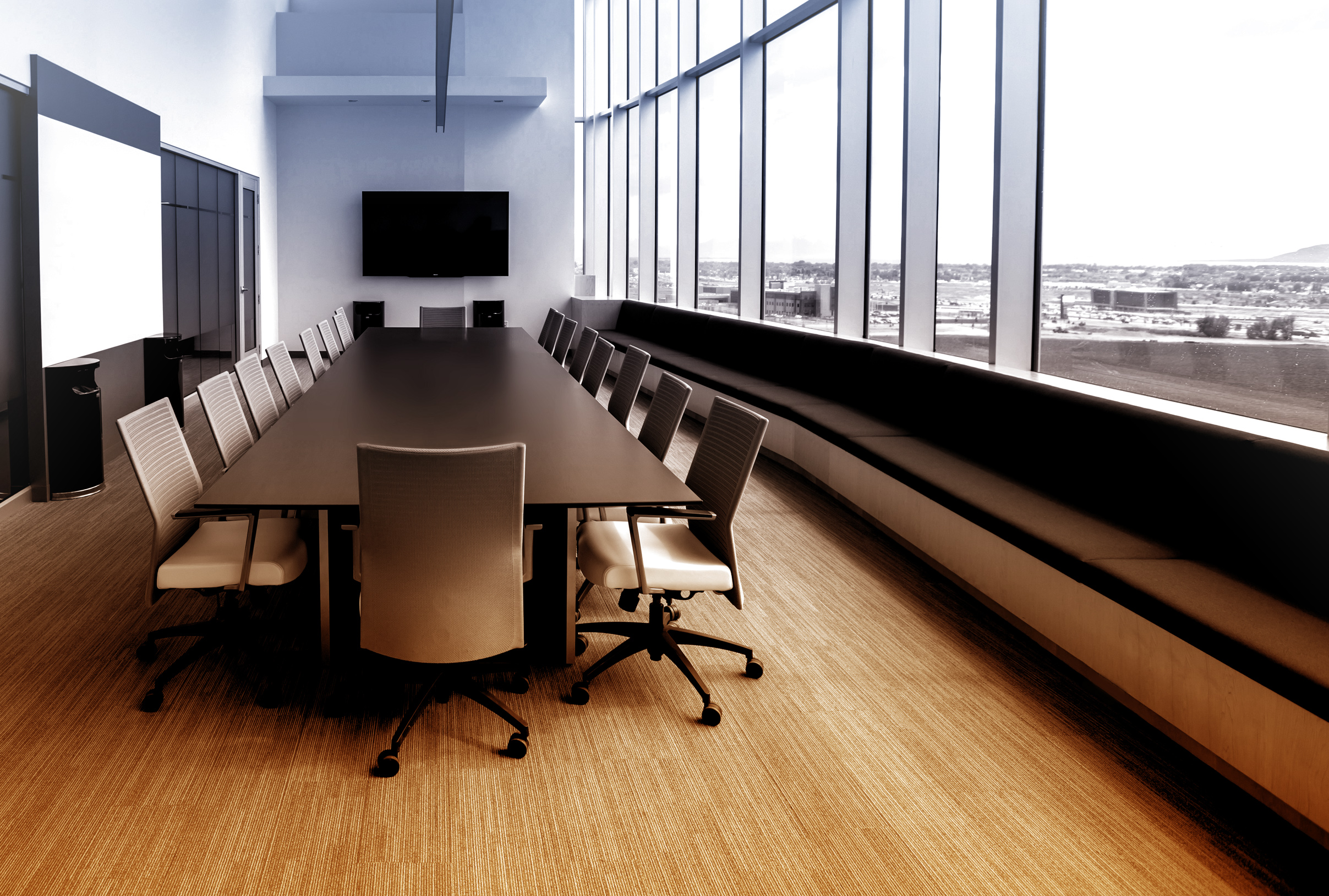 Meeting room - colorized photo