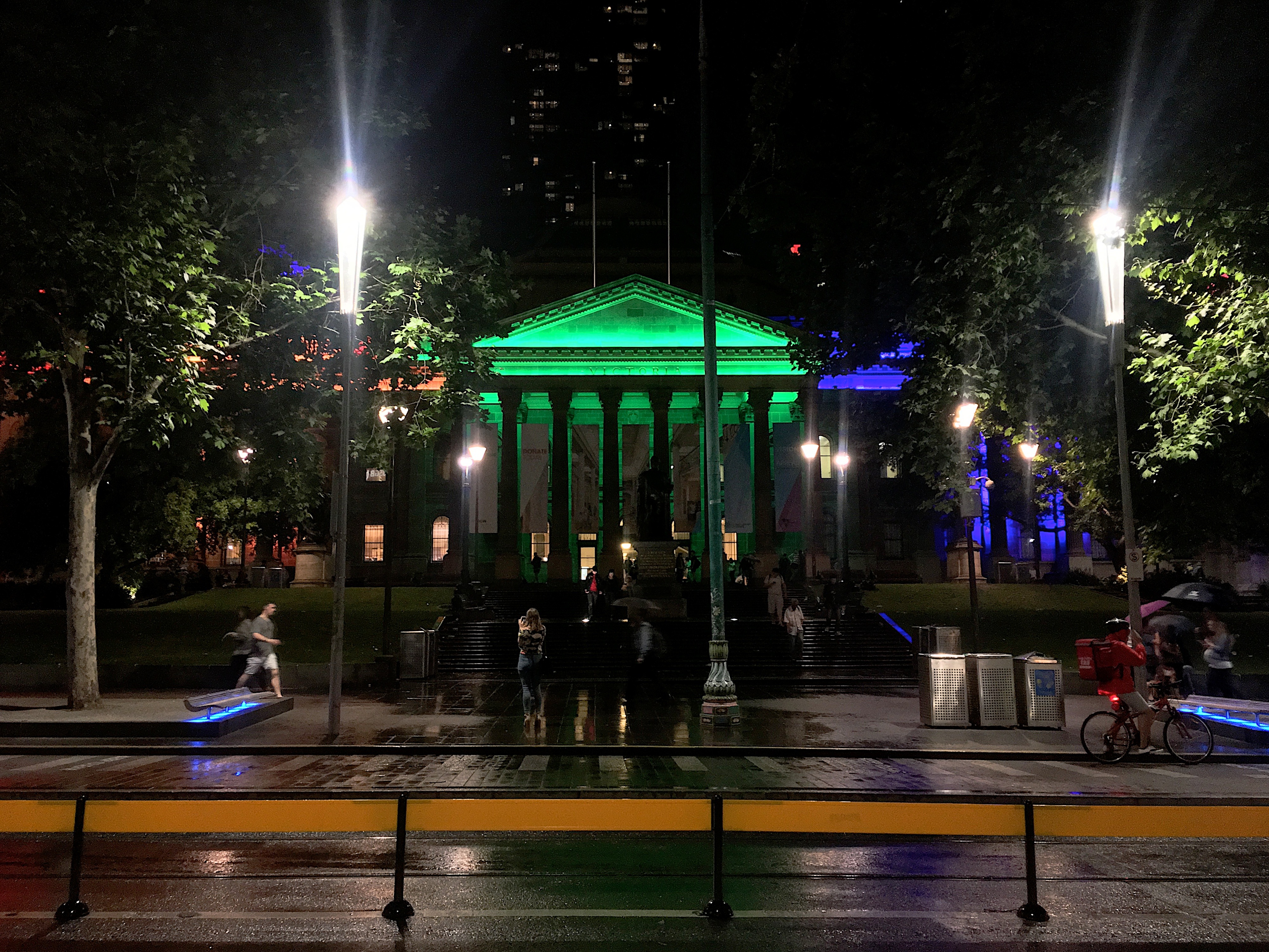 Melbourne in YES Celebation, Night, Park, People, Road, HQ Photo