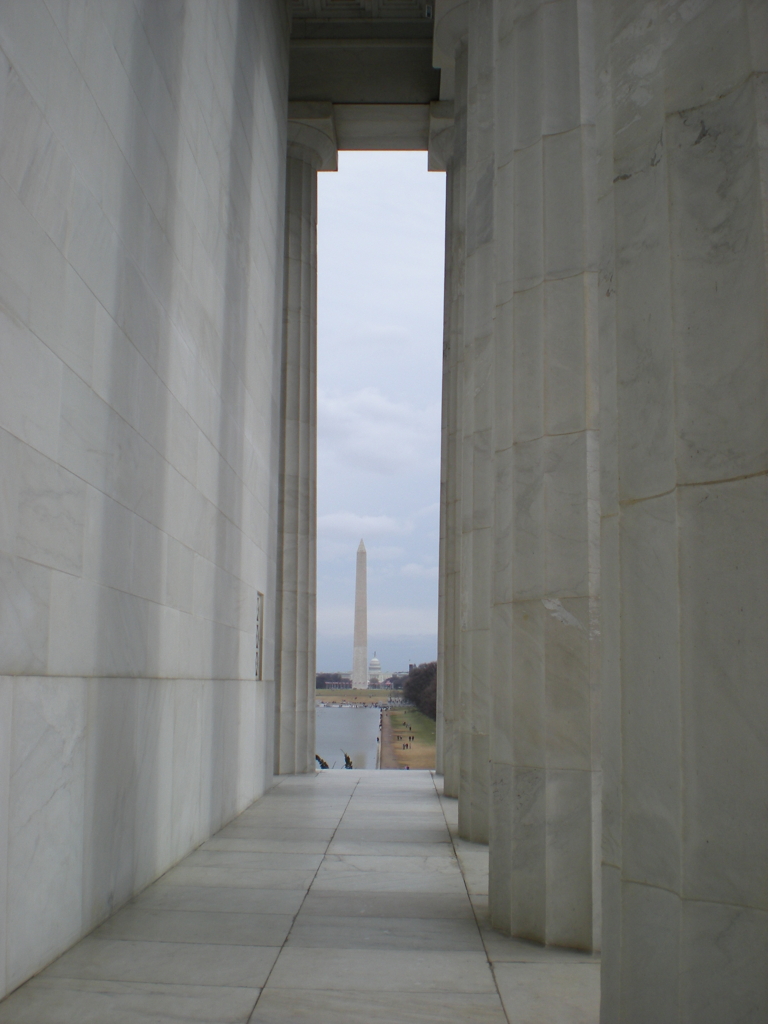Memorial View, Capitol, Columns, Dc, Lincoln, HQ Photo