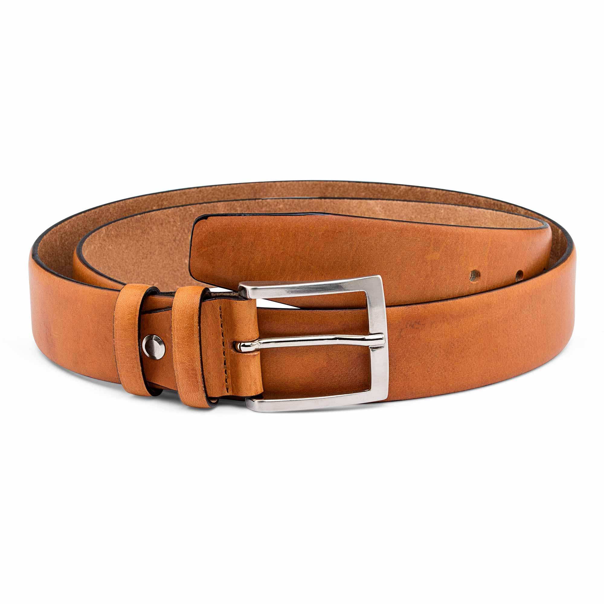 Natural Tan Vegetable Tanned Leather Belt Men's Belts Veg Beige ...