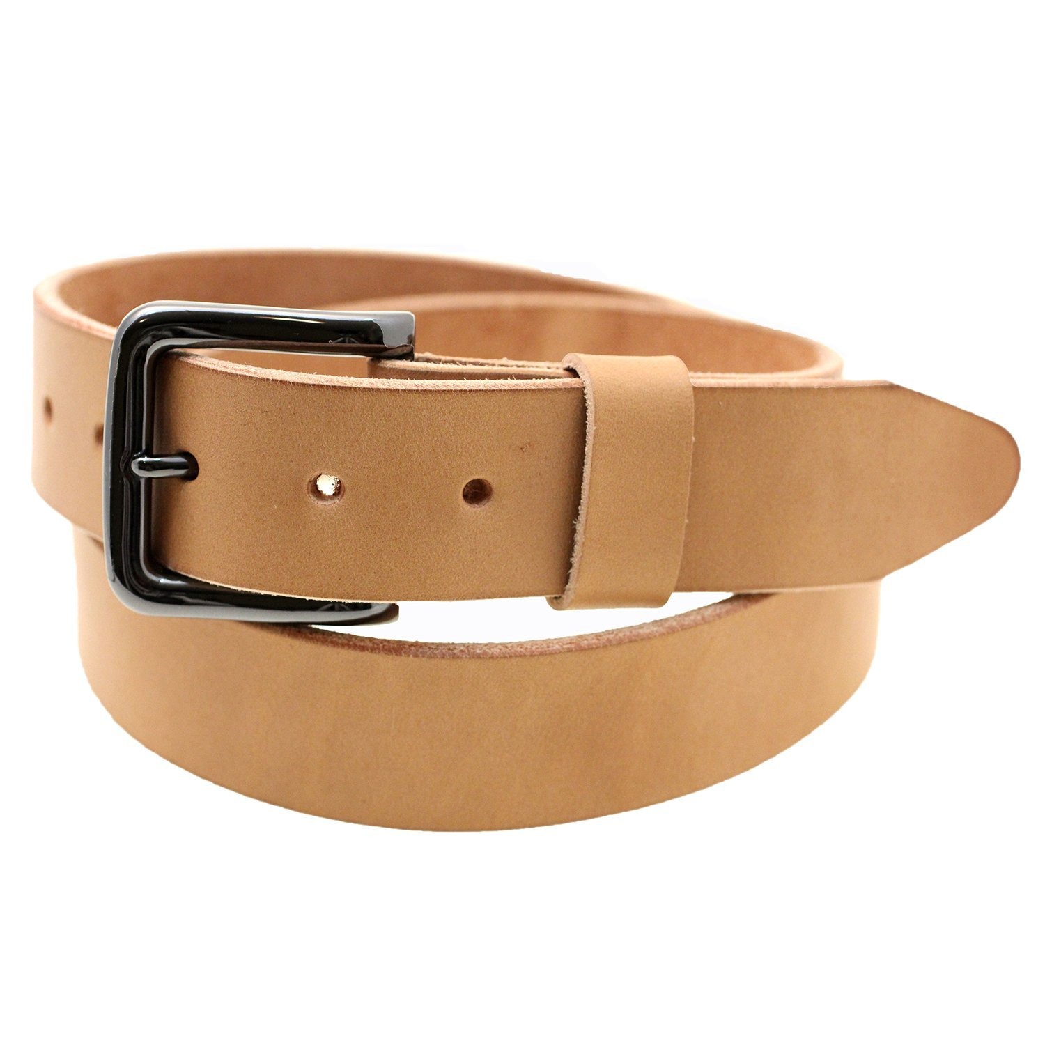Orion Leather 1/2 Natural Tan Harness Leather Belt Raw Edge Made In ...
