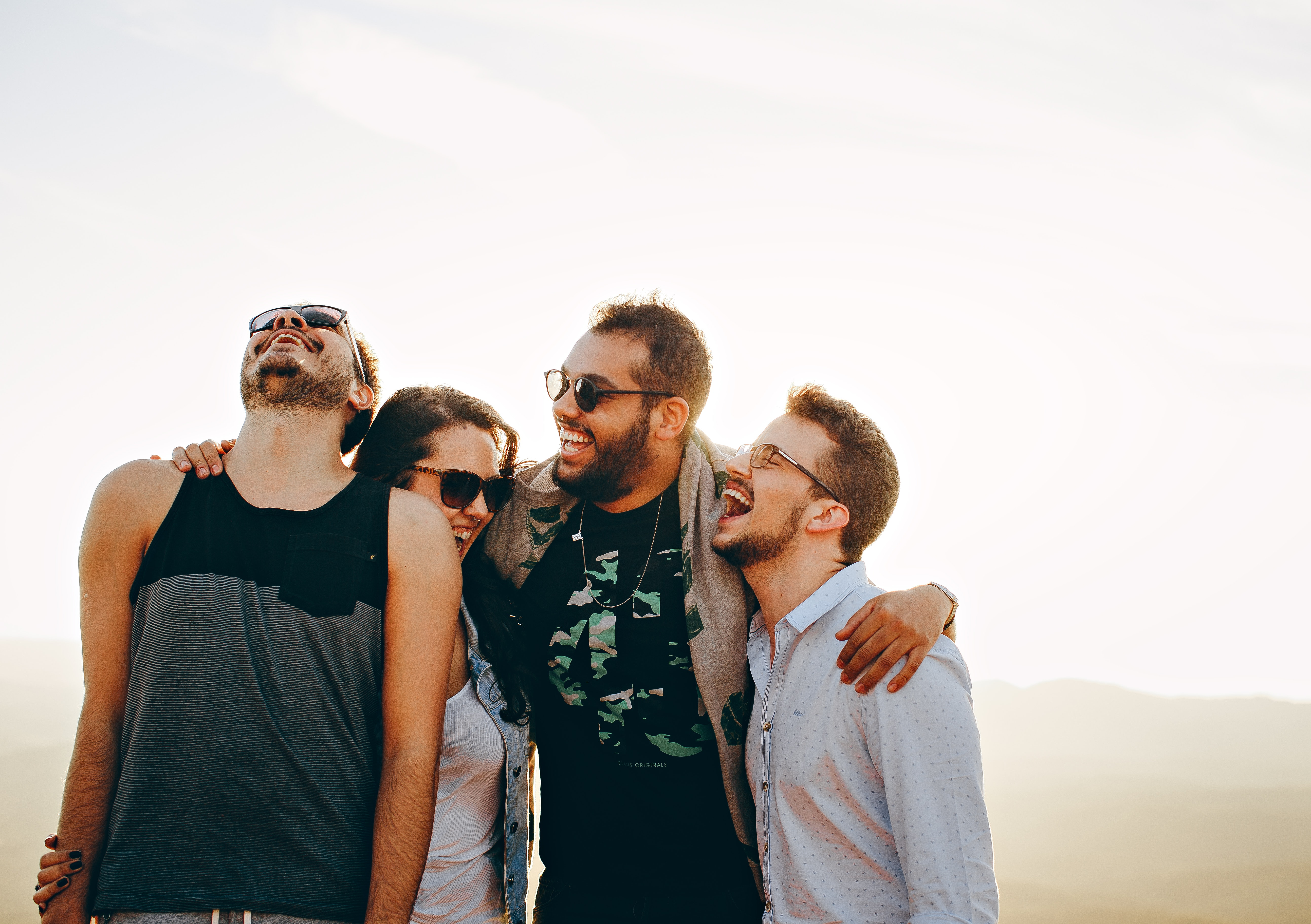 Men's white button-up dress shirt photo