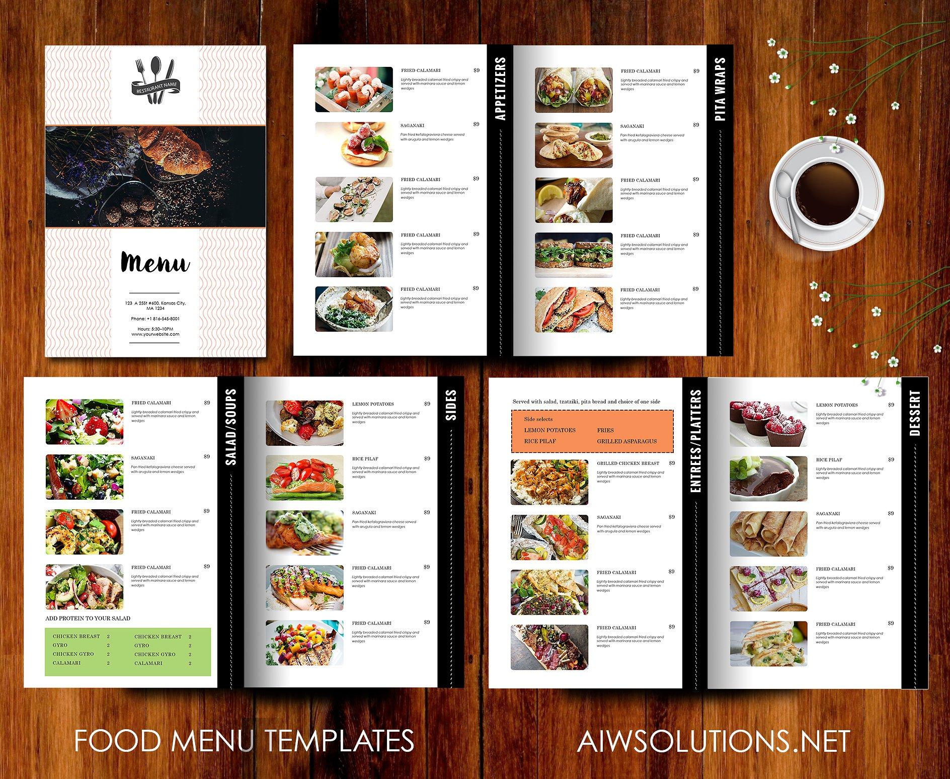 Restaurant Menu Template ~ Brochure Templates ~ Creative Market