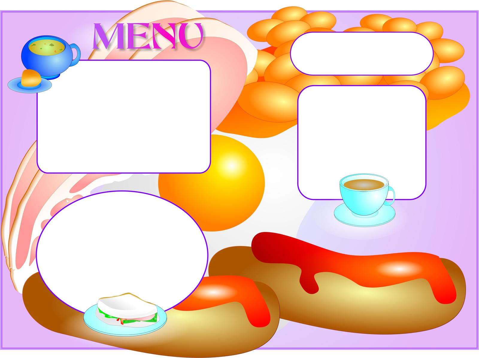 Menu Template, Bacon, Beans, Border, Cafe, HQ Photo