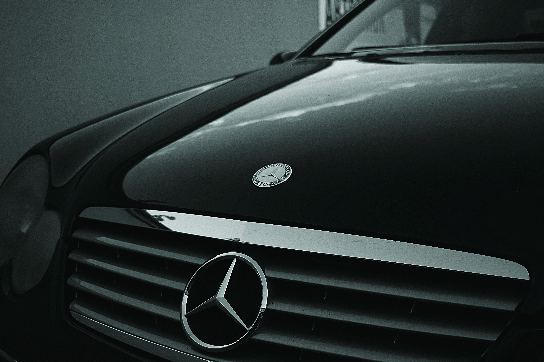 Mercedes Benz Black Car, Automobile, Grill, Vehicle, Transportation, HQ Photo