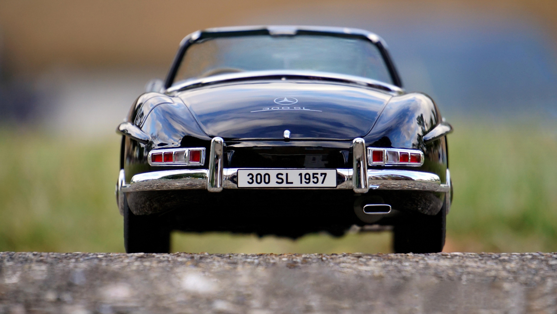 Mercedes Benz Black Convertible Classic Car, Asphalt, Limited, Vintage, Vehicle, HQ Photo