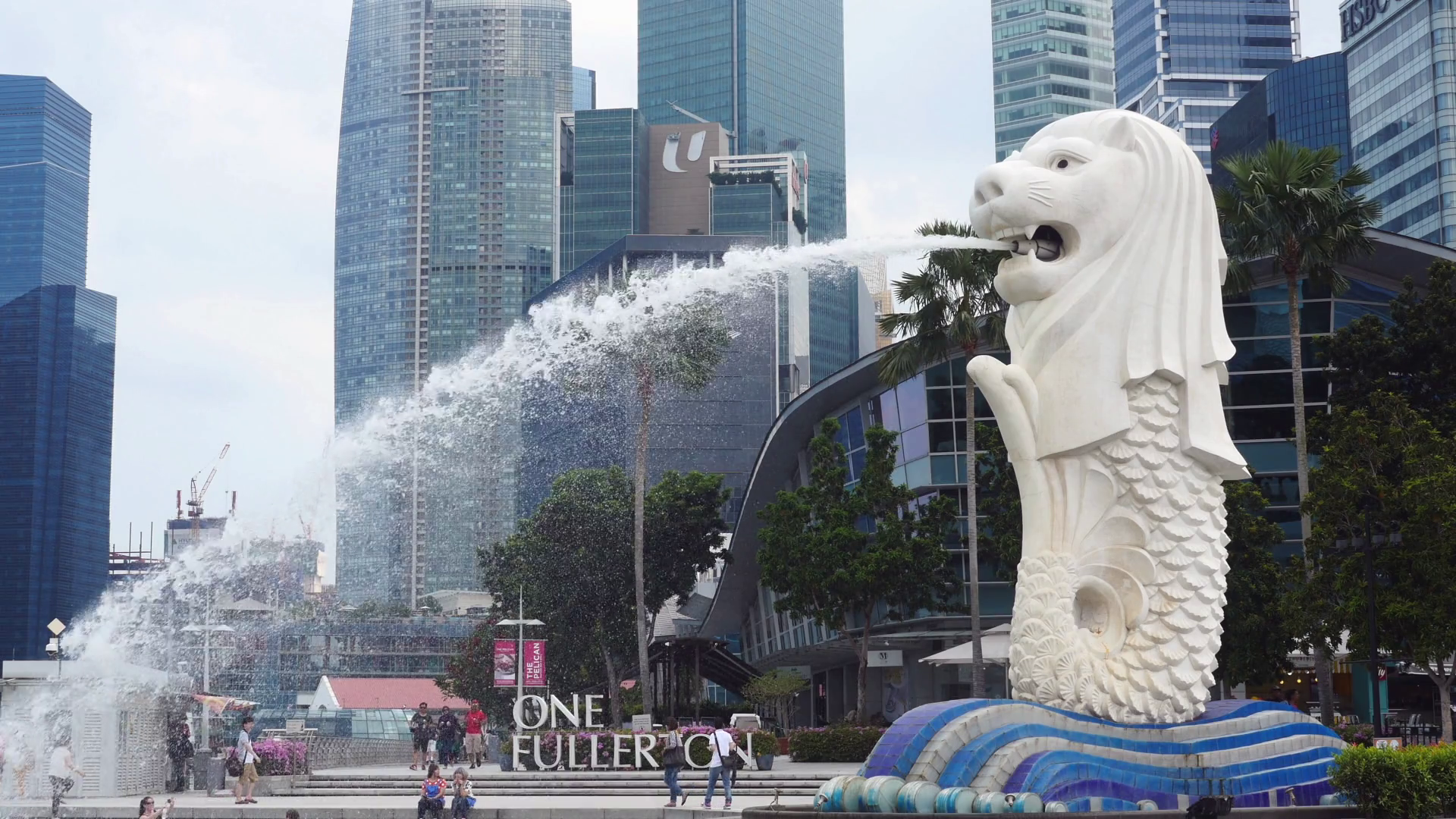 Merlion statue photo