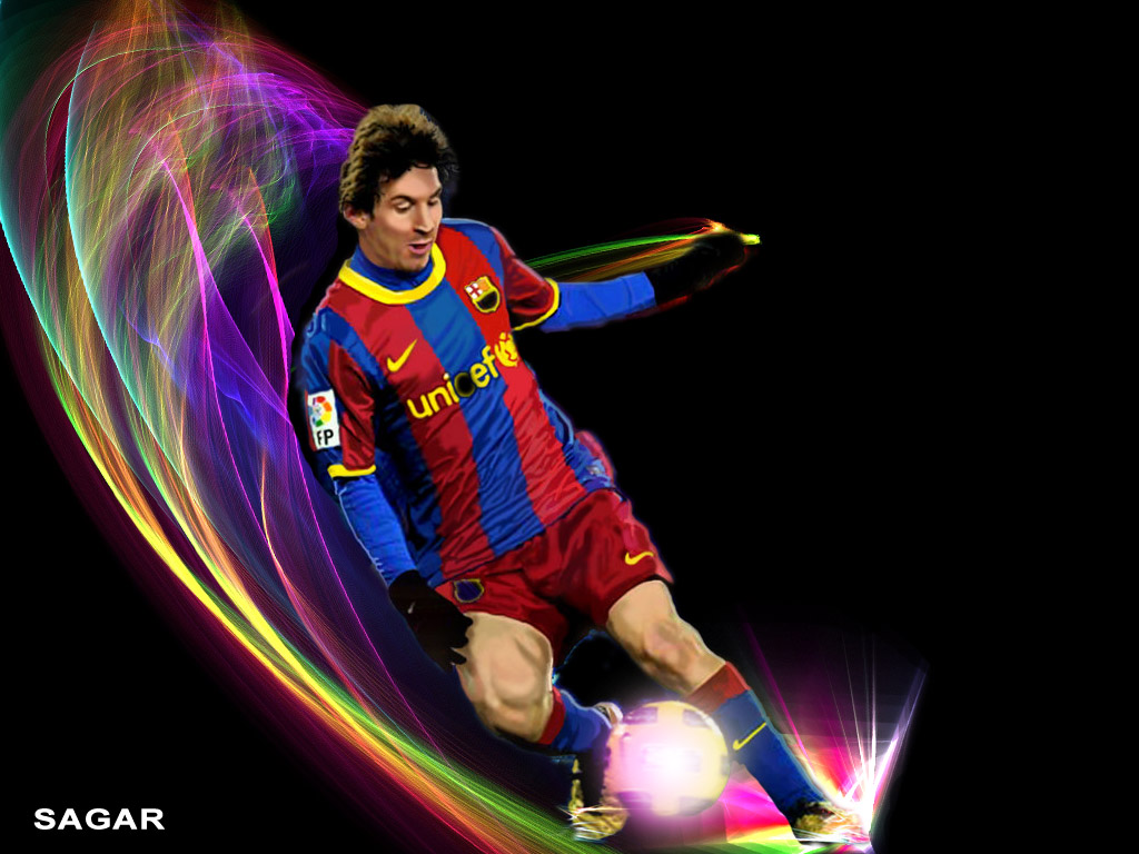 Messi playing football wallpaper photo