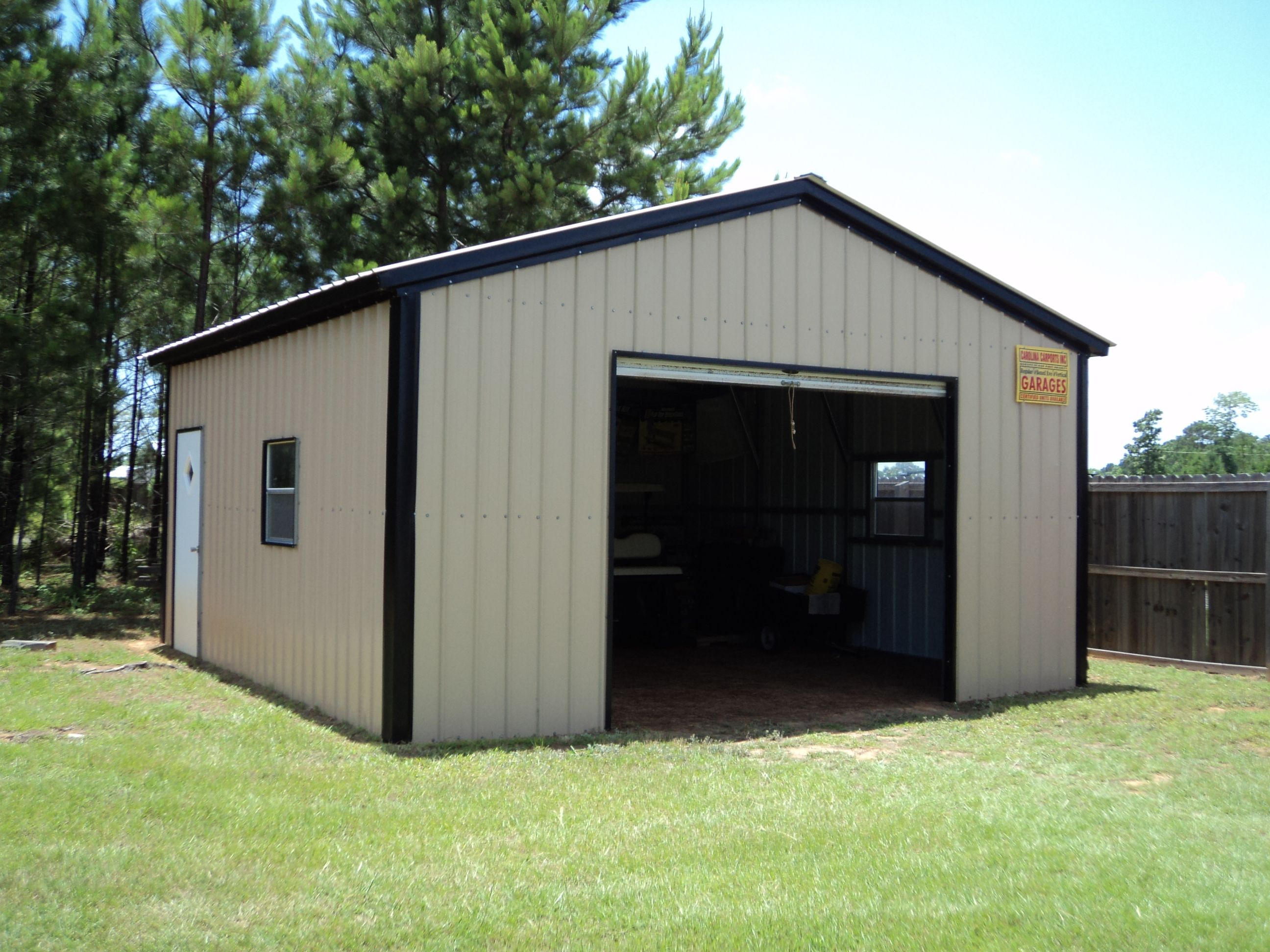 18 x 21 x 9 All Vertical Garage | Choice Metal Buildings