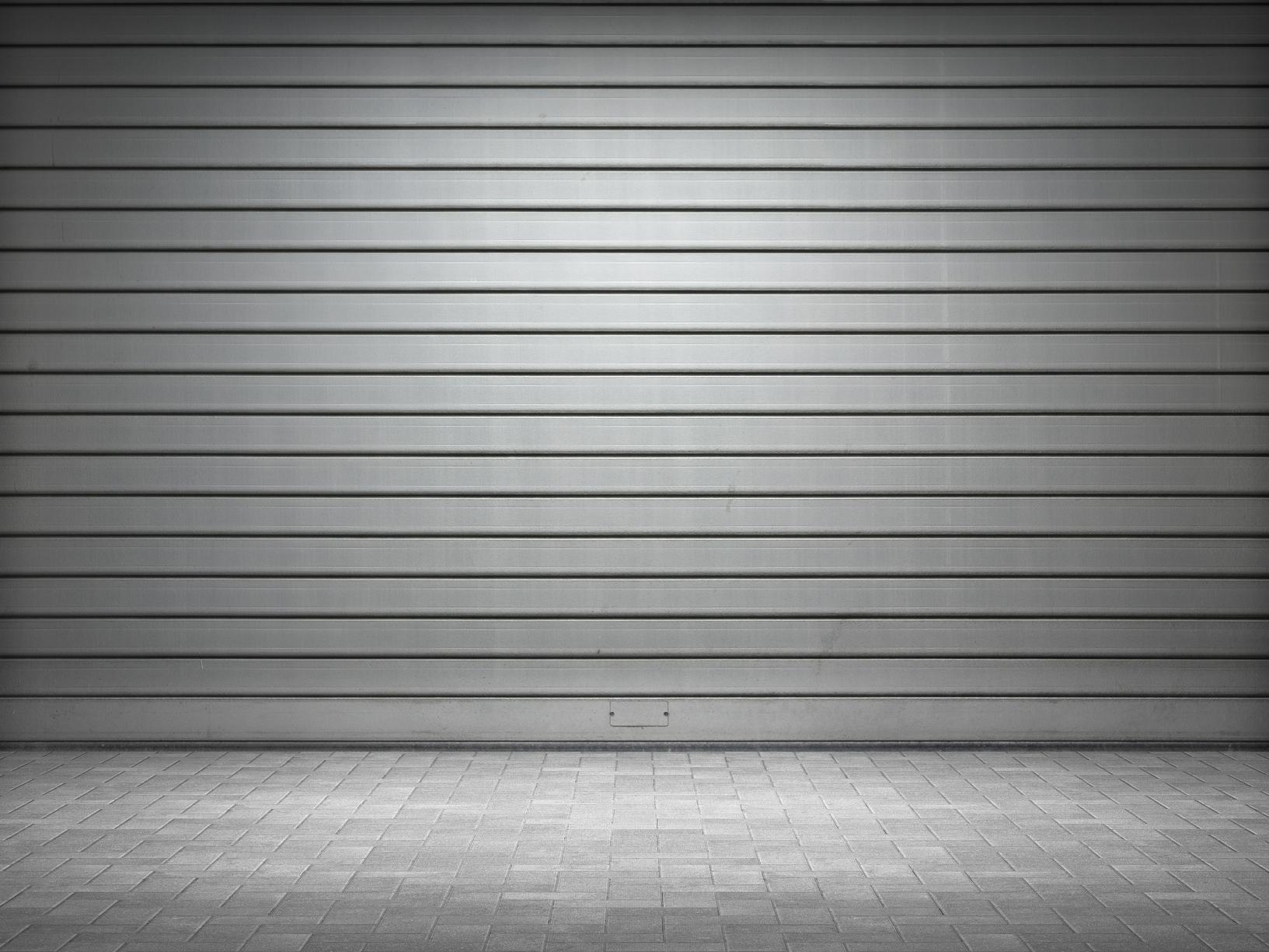 Free Photo Metal Garage Door Secured Secure Steel