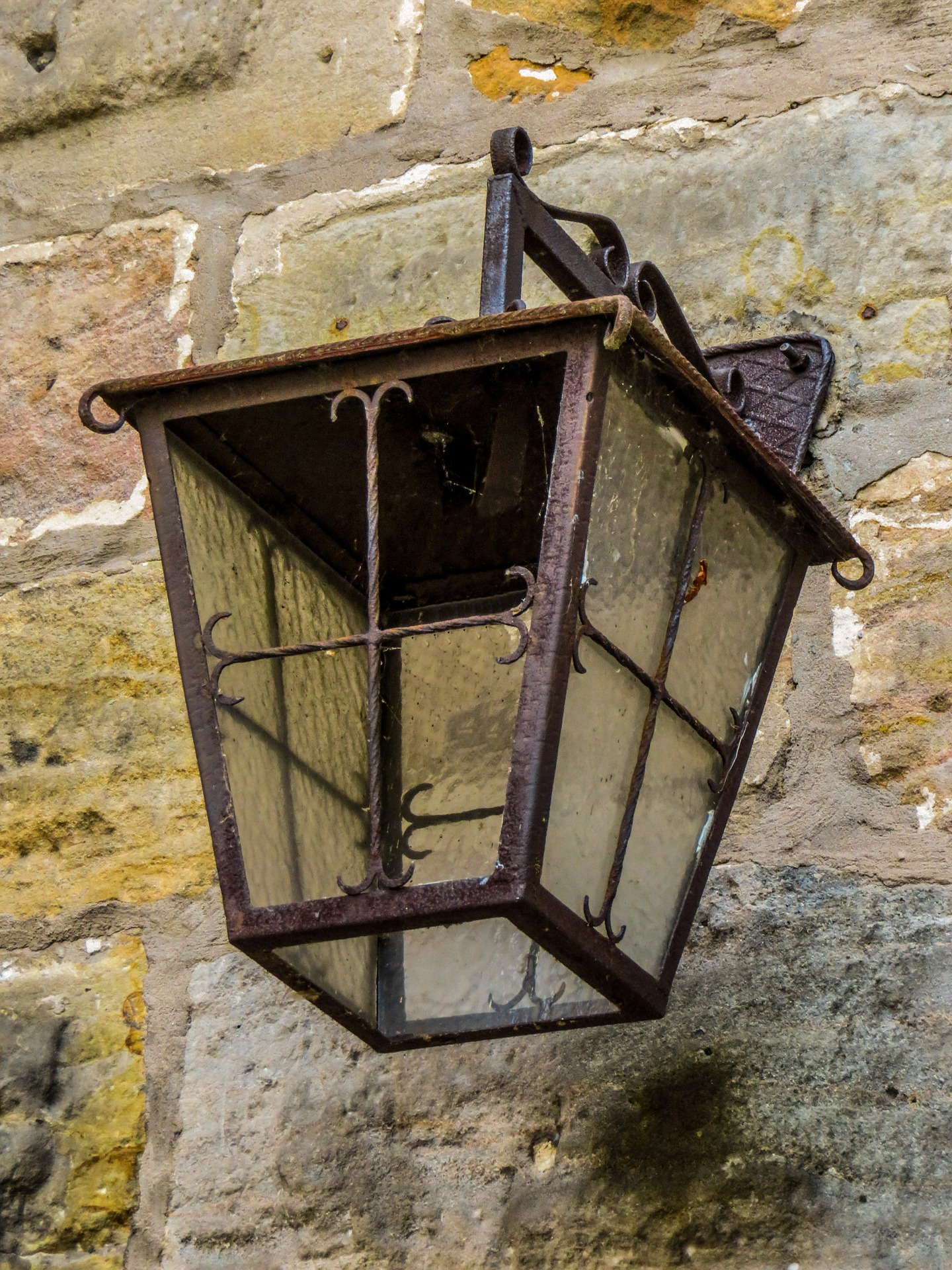 Metal Lantern, Bulb, Lamp, Lantern, Light, HQ Photo