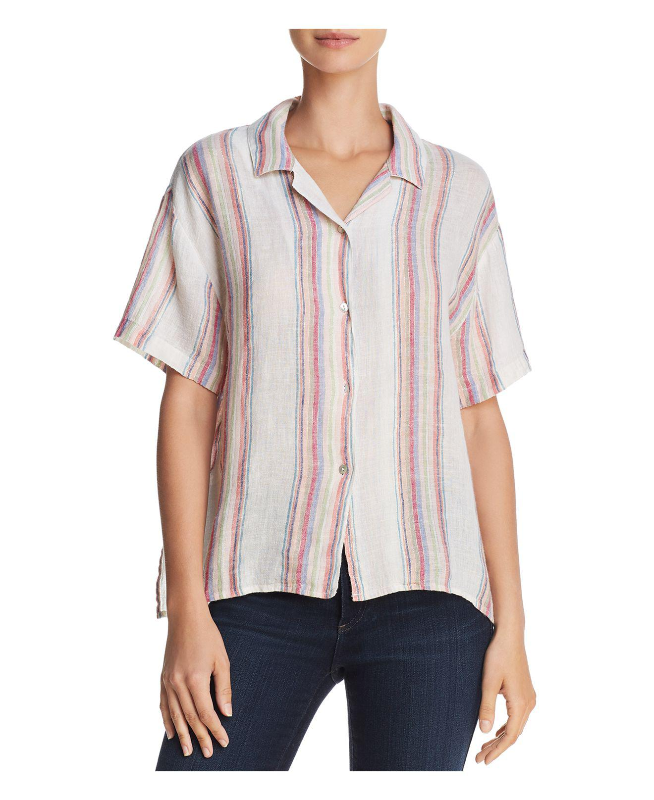 Lyst - Rails Zuma Metallic Striped Shirt