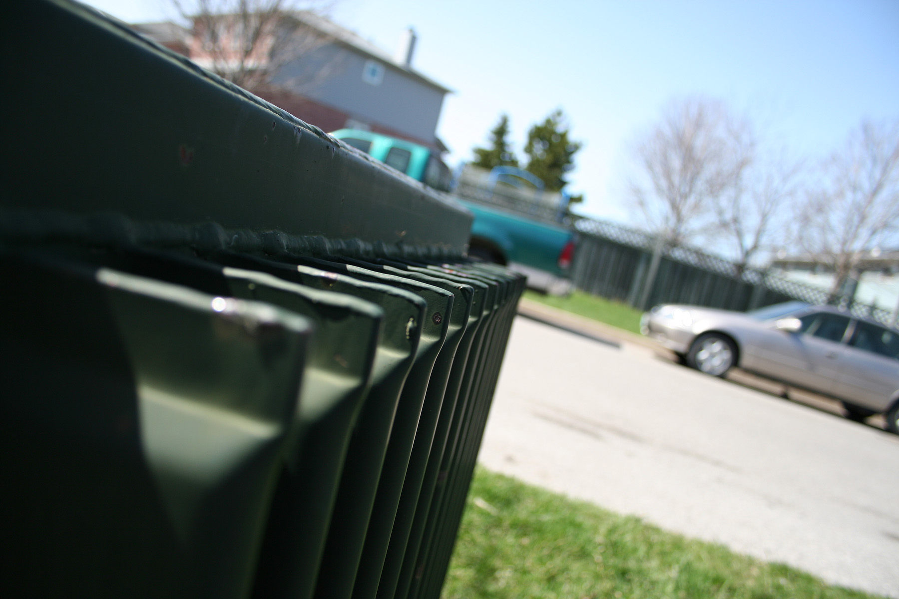 Metallic rails, Angle, Box, Car, Grass, HQ Photo