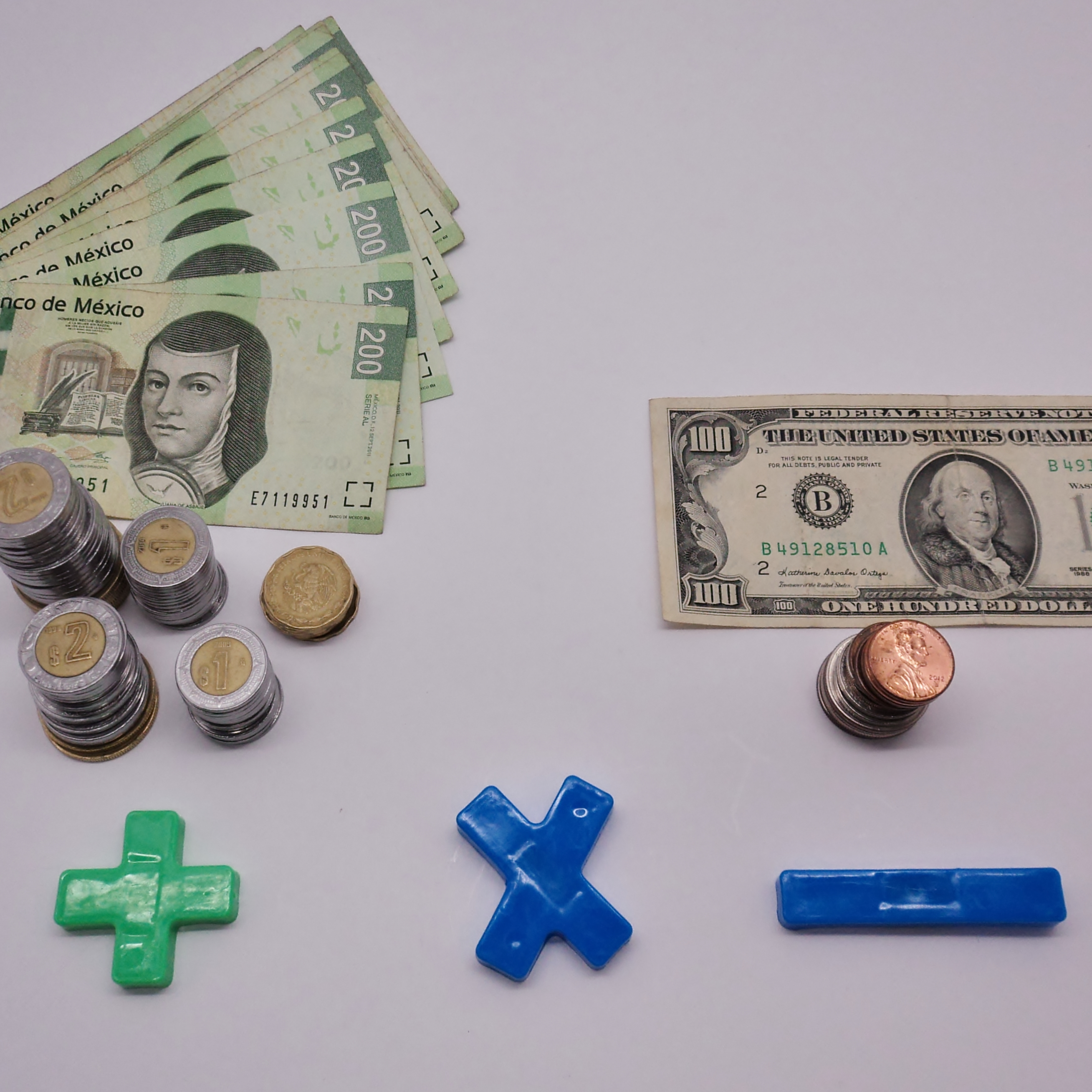 Mexican Currency Exchange Money Dollar Hq Photo
