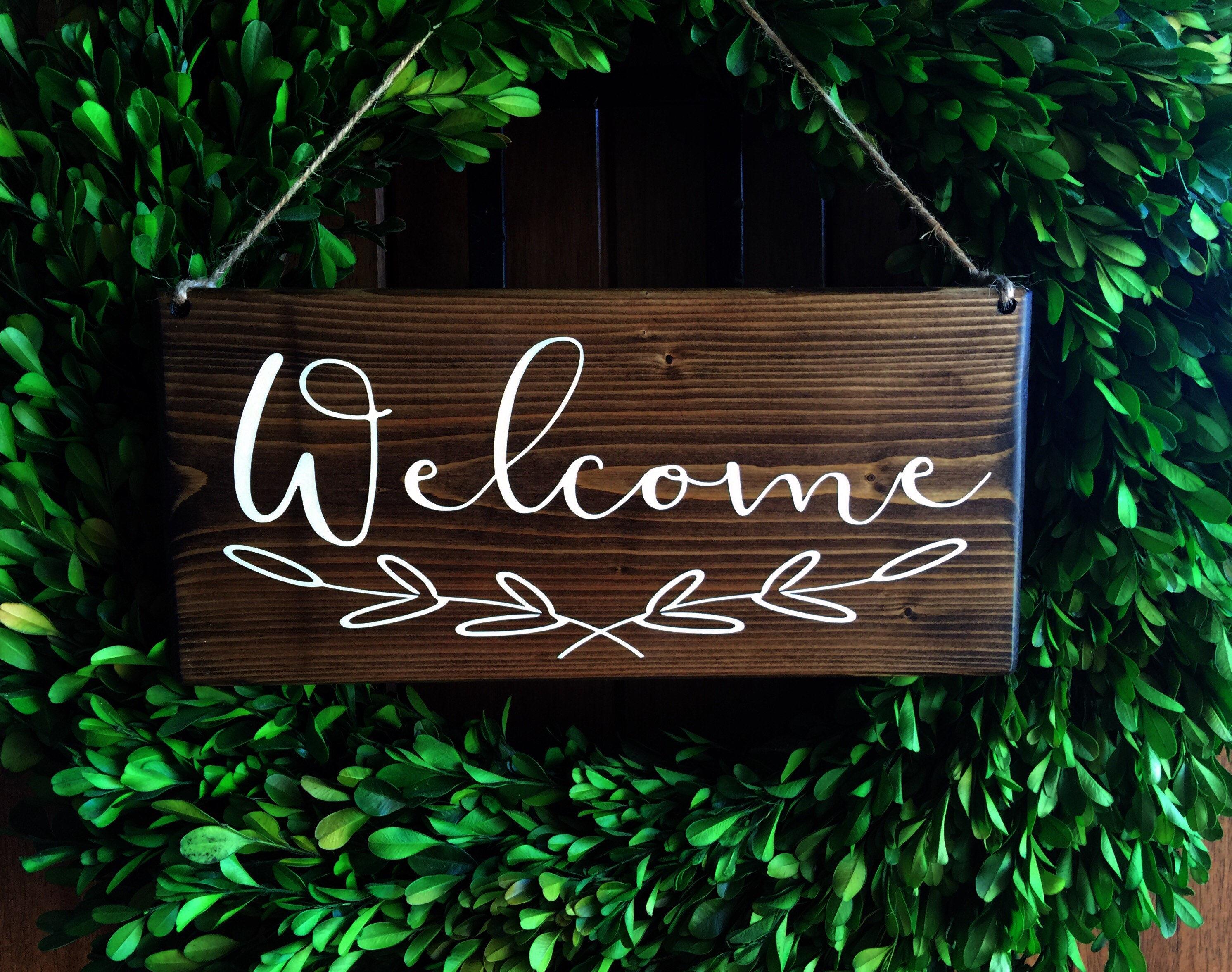 Welcome Sign Welcome Door Sign Door Sign Door Hanger