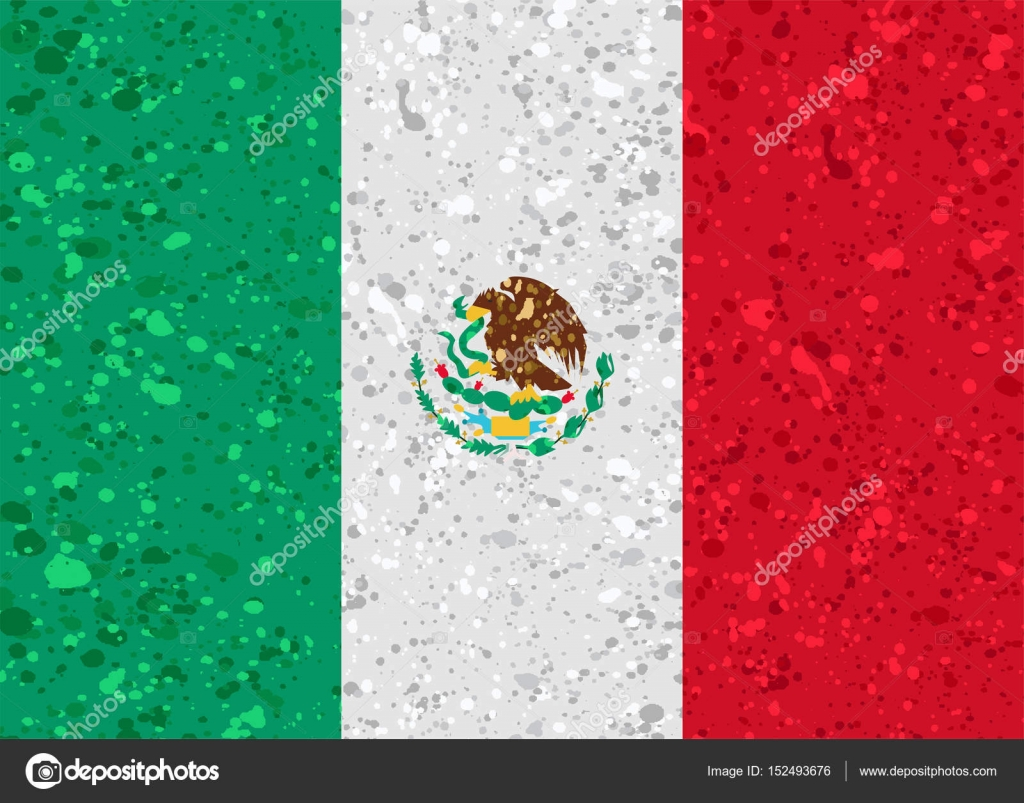 mexico flag grunge illustration — Stock Vector © noche0 #152493676
