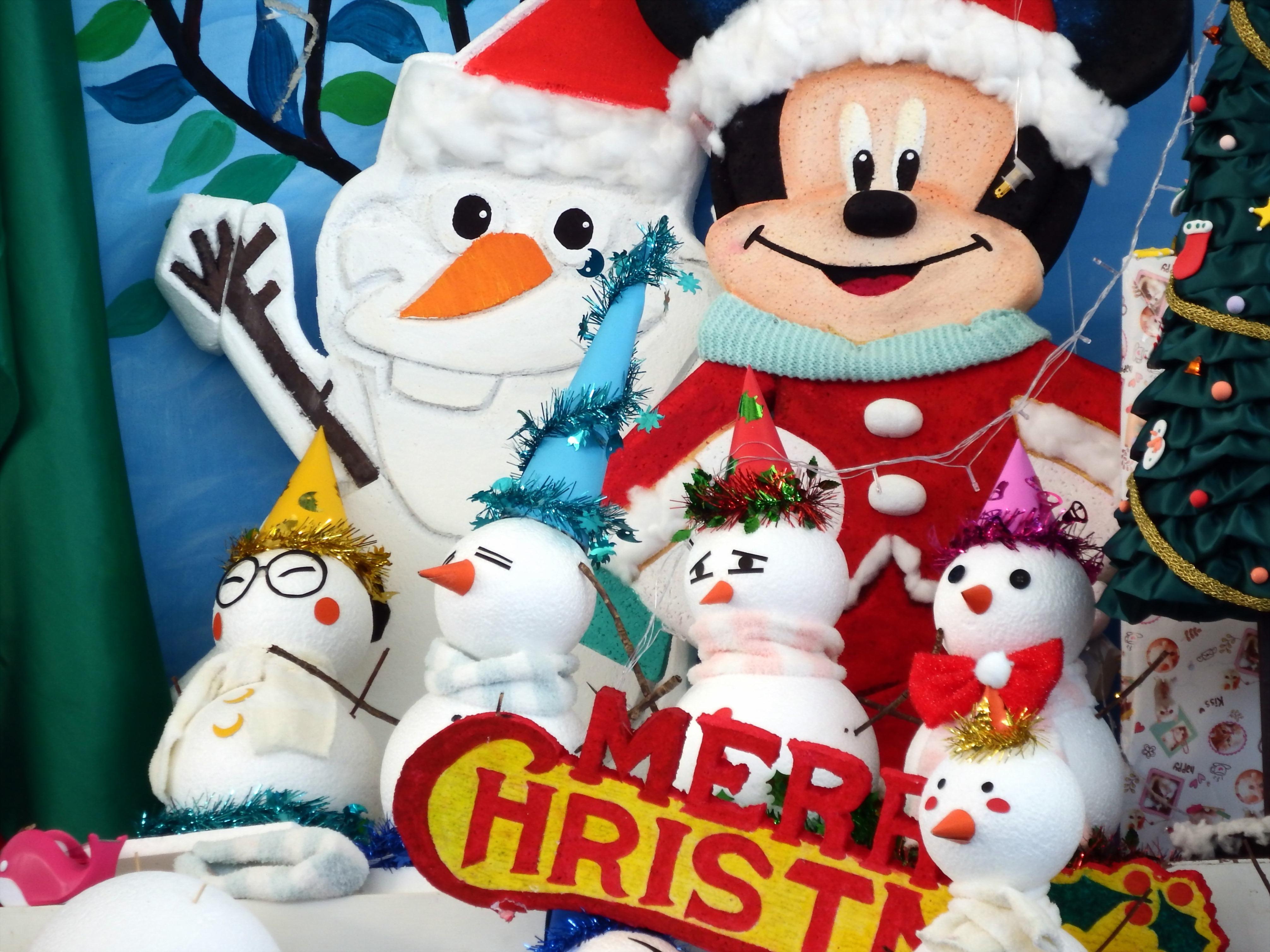 Mickey mouse disney christmas scene photo