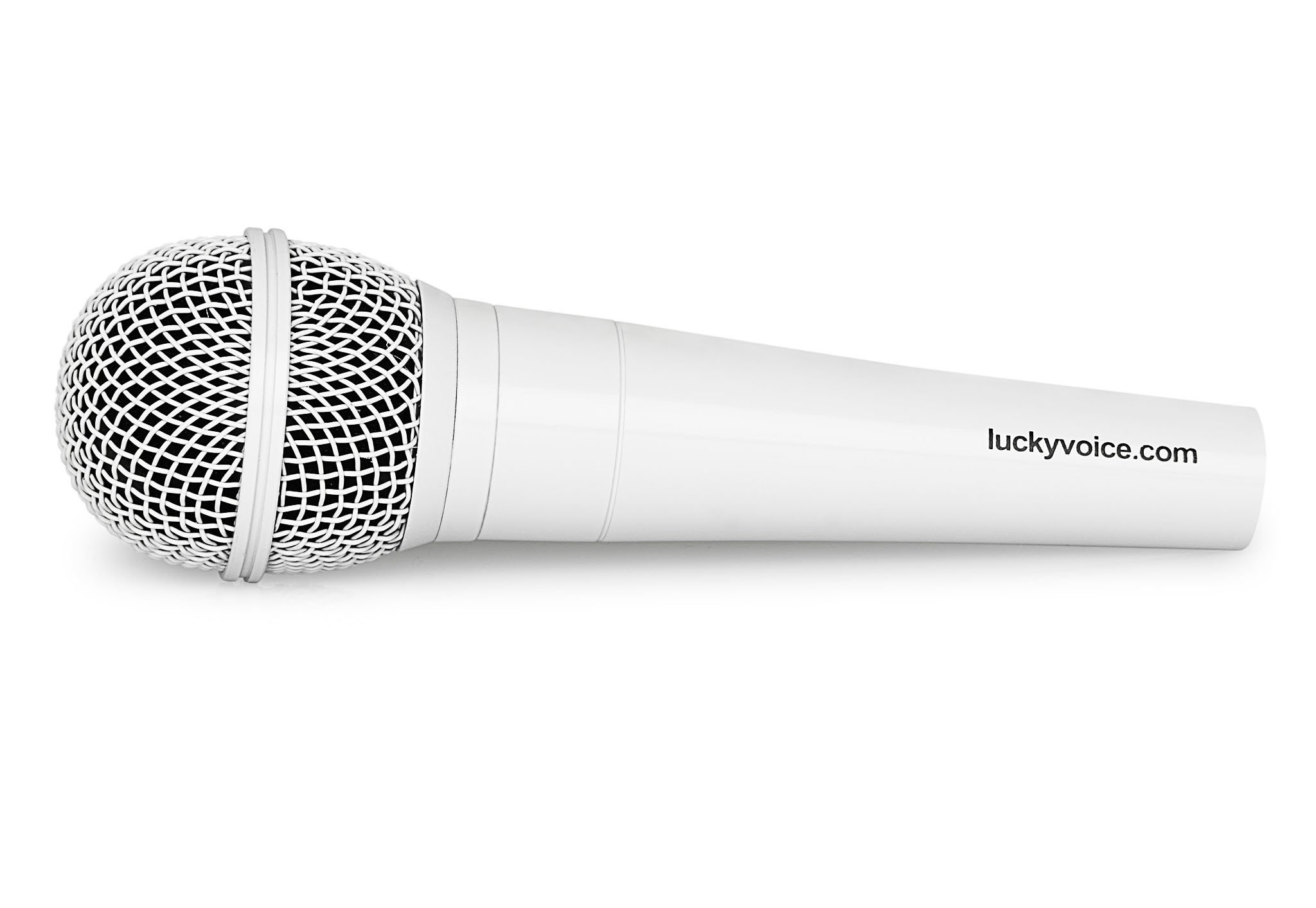 Lucky Voice White microphone - £6.50 | Lucky Voice Karaoke shop