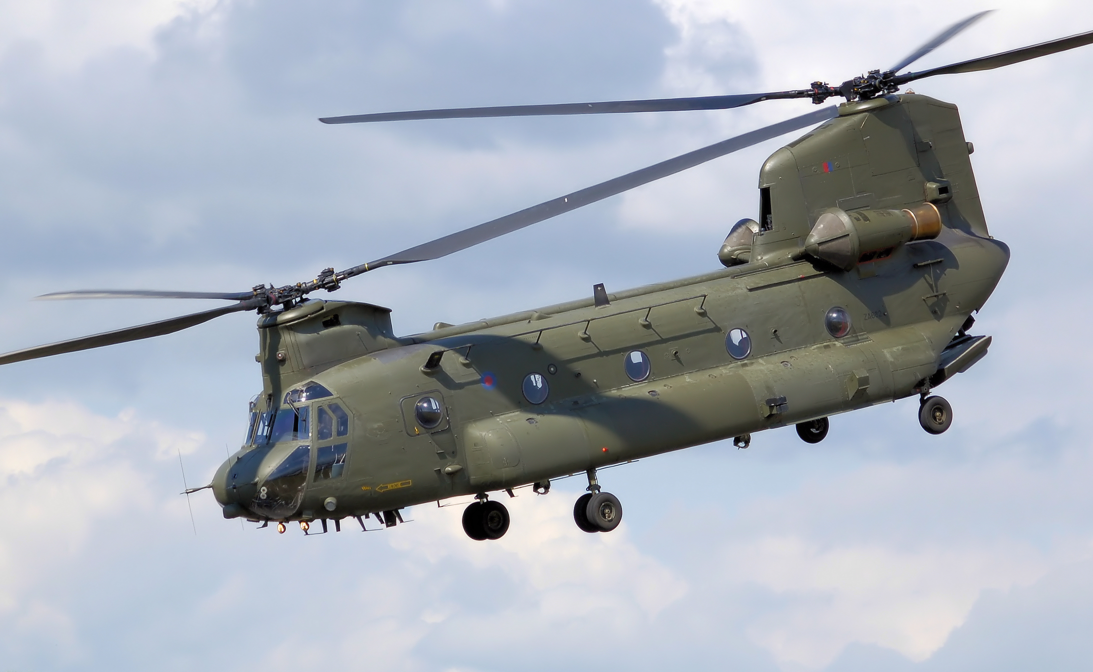 Military chinook helicopter photo