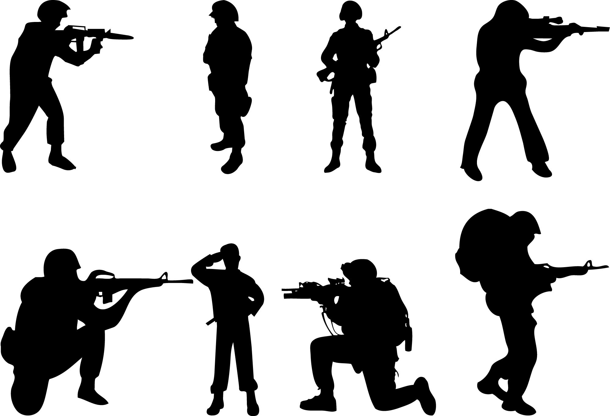 Silhouette Soldier - silhouettevector.net   People Silhouette Vector ...