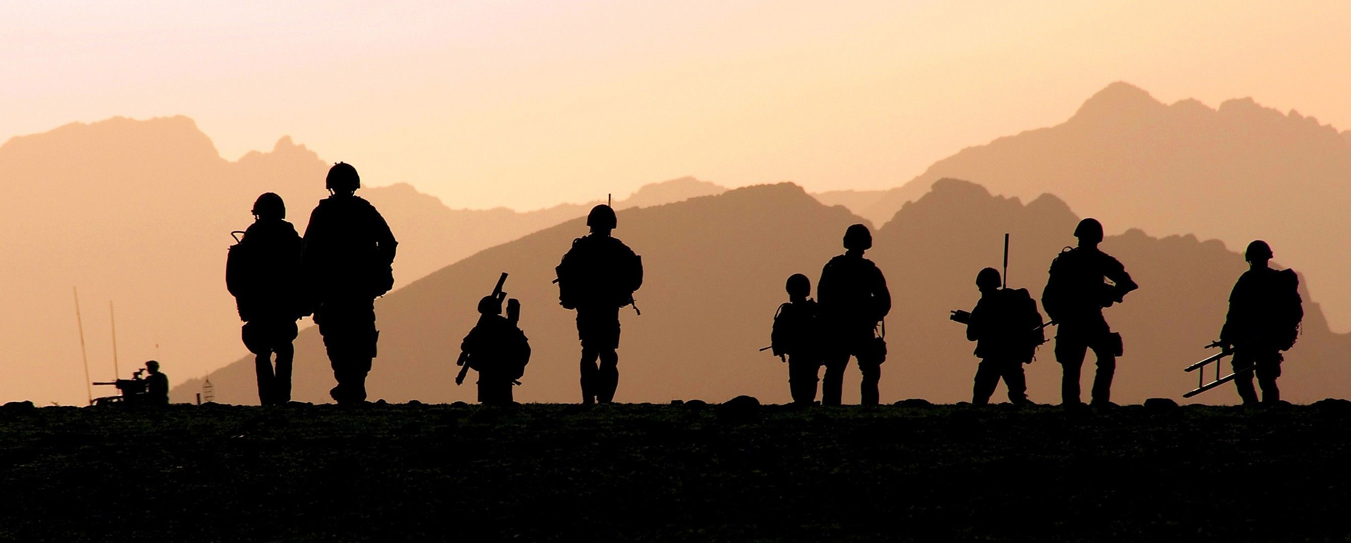 2685x1080 military, Silhouette, Royal Marines Wallpapers HD ...