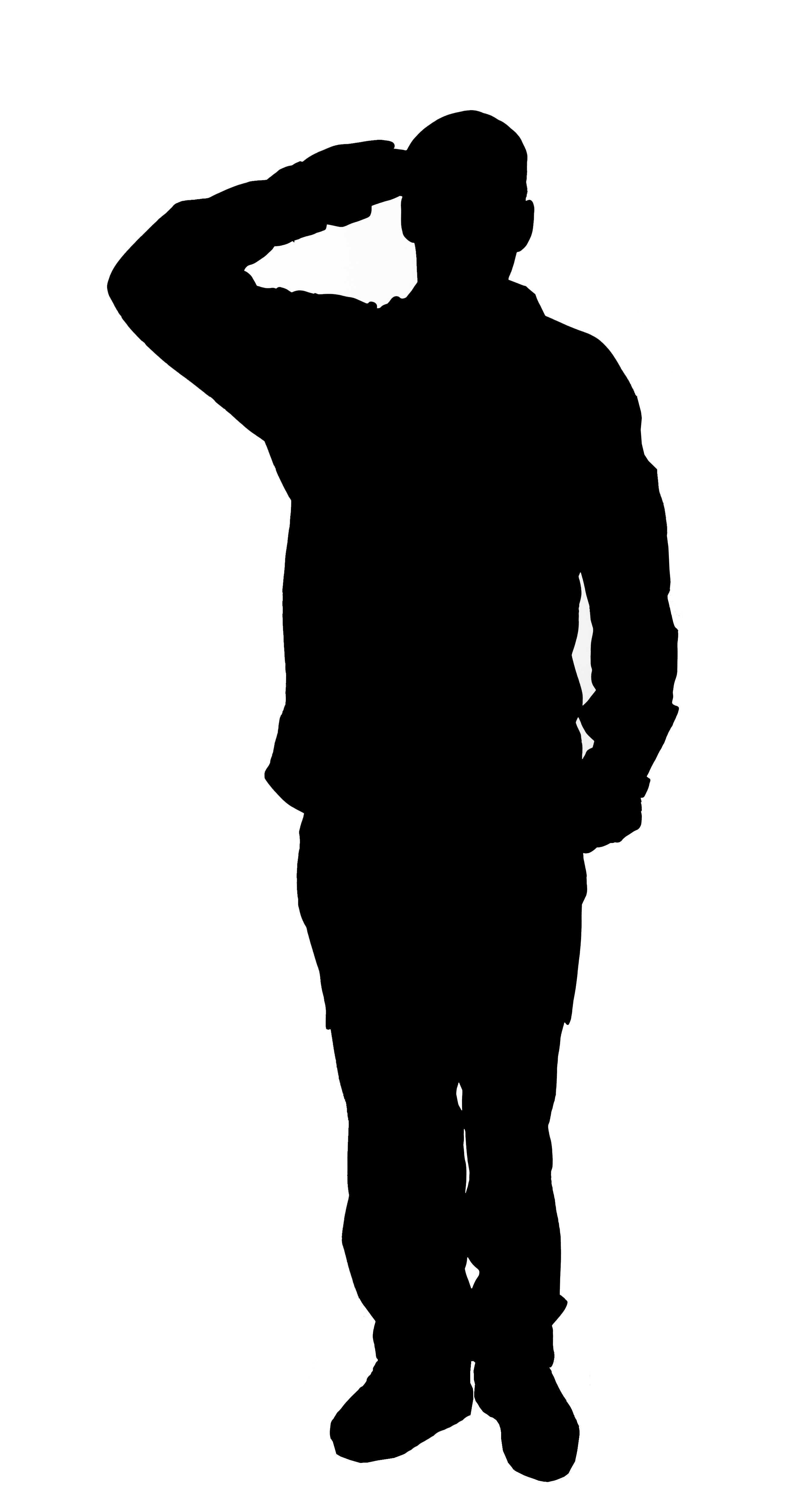 Soldier Silhouette ...draw on wall ....paint in black paint ...