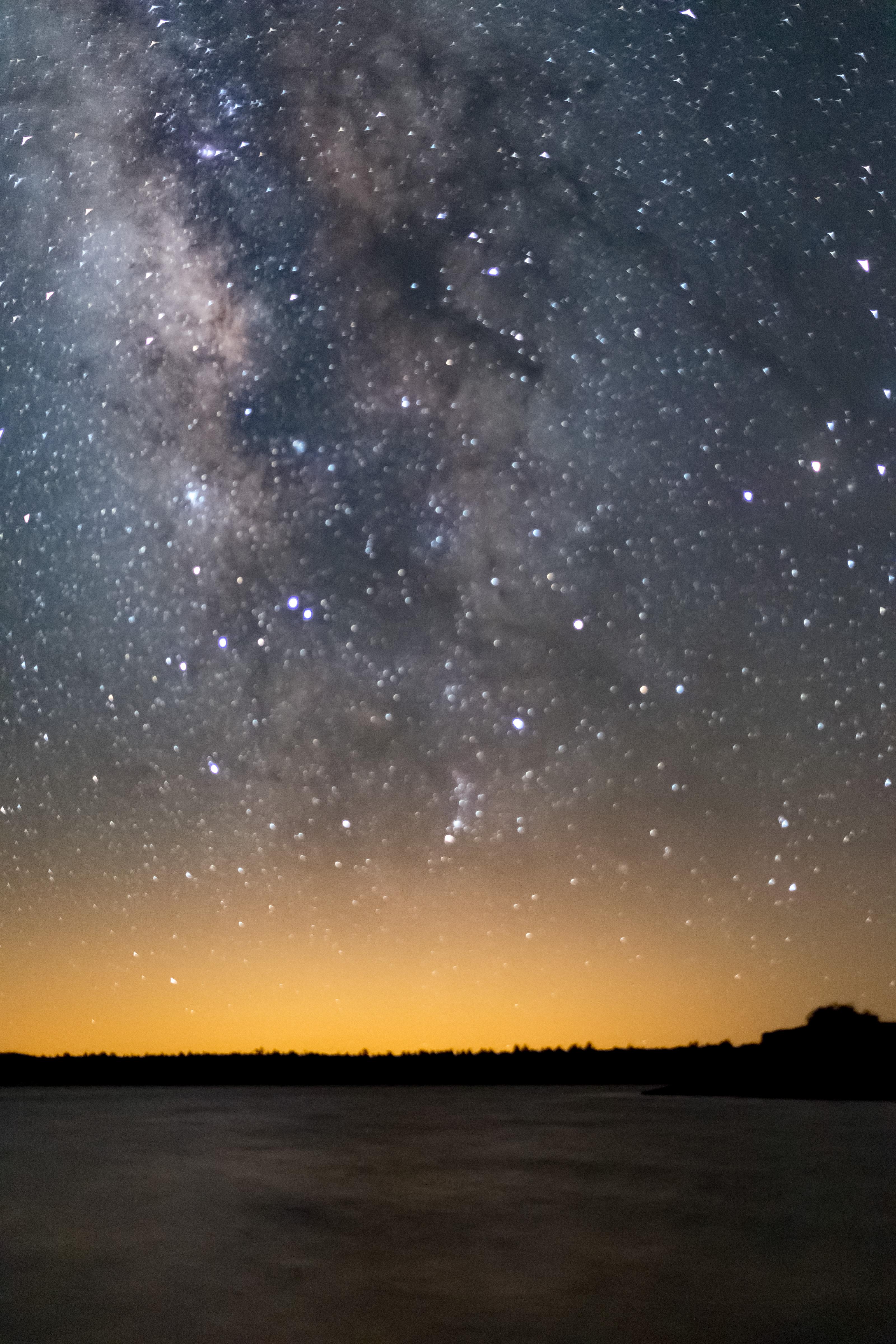 Milky way over ashurst lake photo