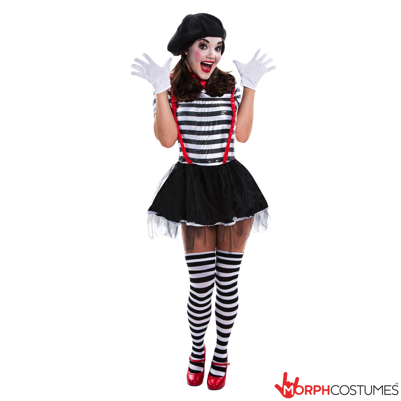 Women's Mime Artist Costume | Morph Costumes US