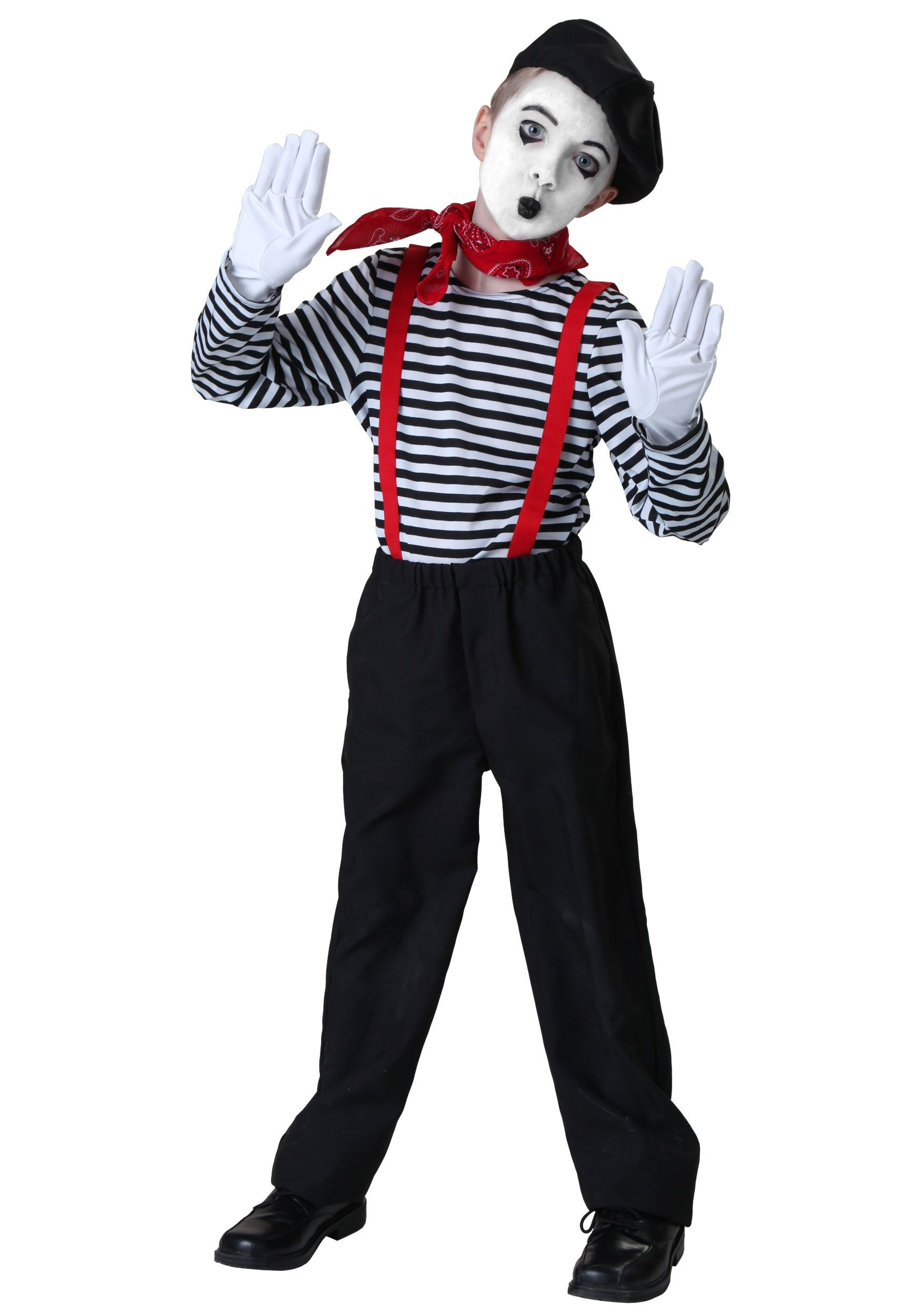 I love this child mime costume. All you need is the right ...