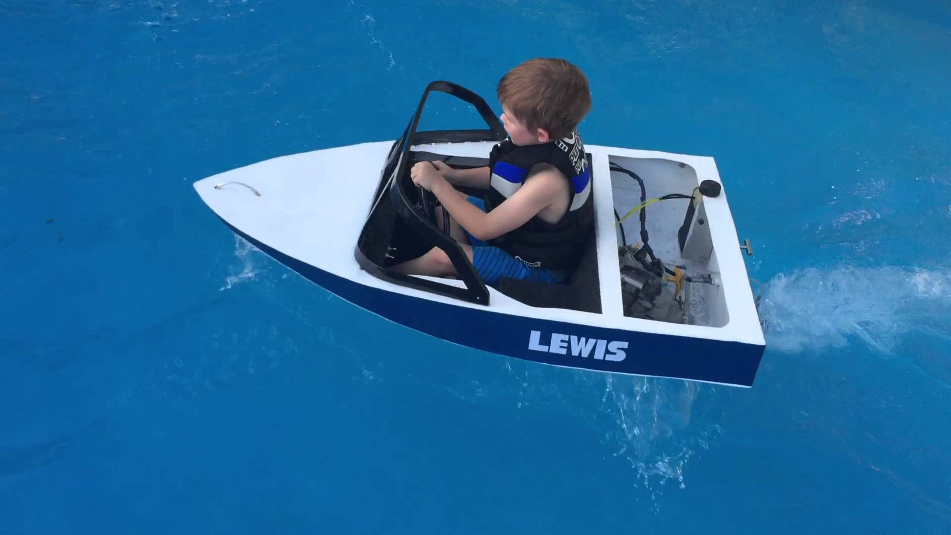 Mini ski boat build petrol powered - YouTube