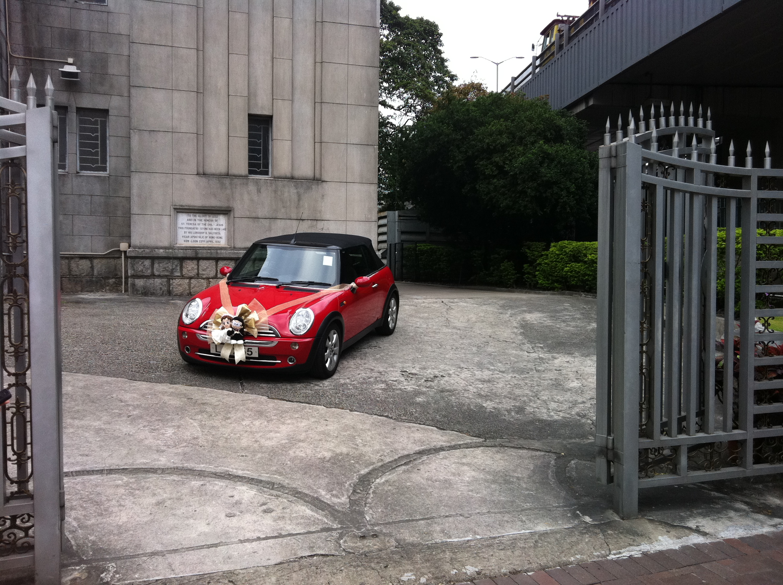 Mini cooper as wedding car photo
