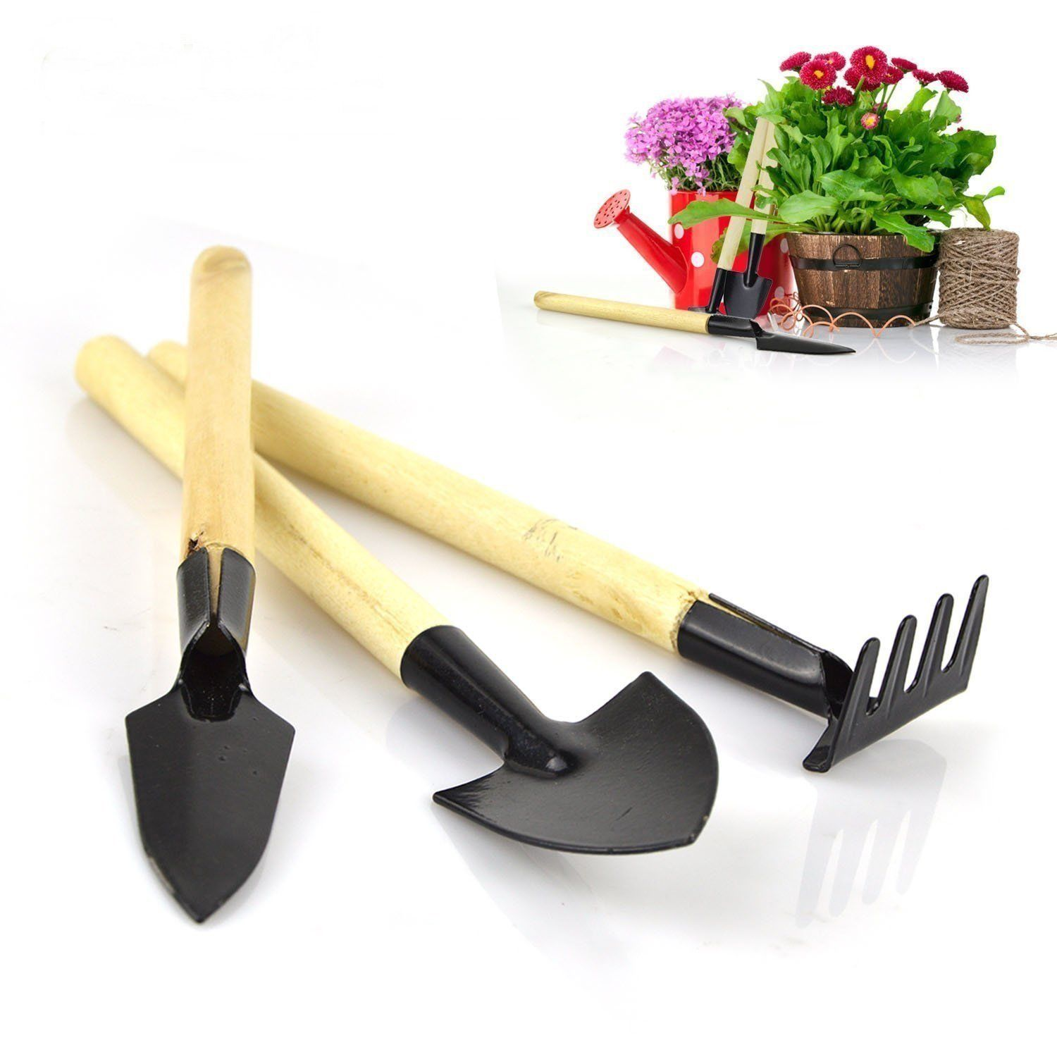 Aries 3 Pcs Mini Gardening Hand Tools Sets Spade Shovel for Flower ...