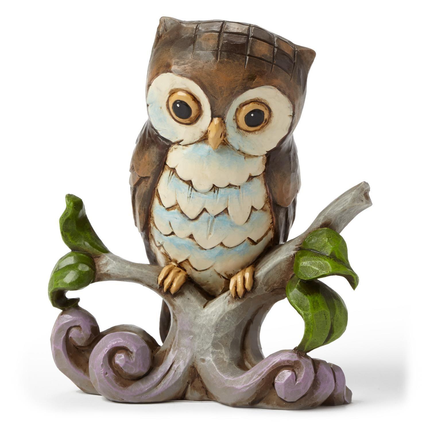 Jim Shore Mini Owl on Branch Figurine - Figurines - Hallmark