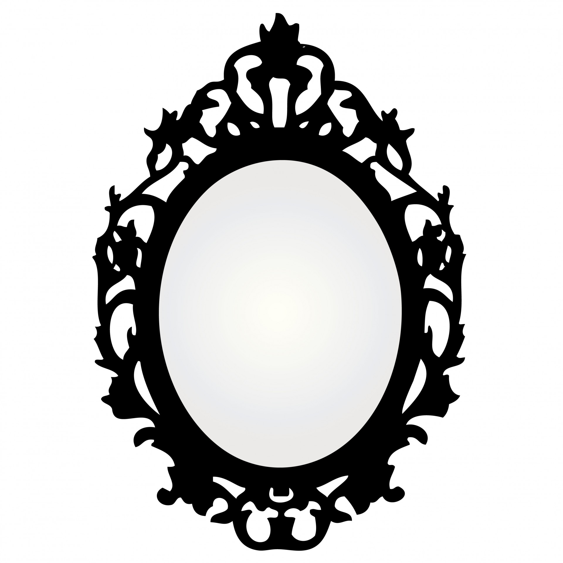 Mirror With Ornate Frame Free Stock Photo - Public Domain Pictures
