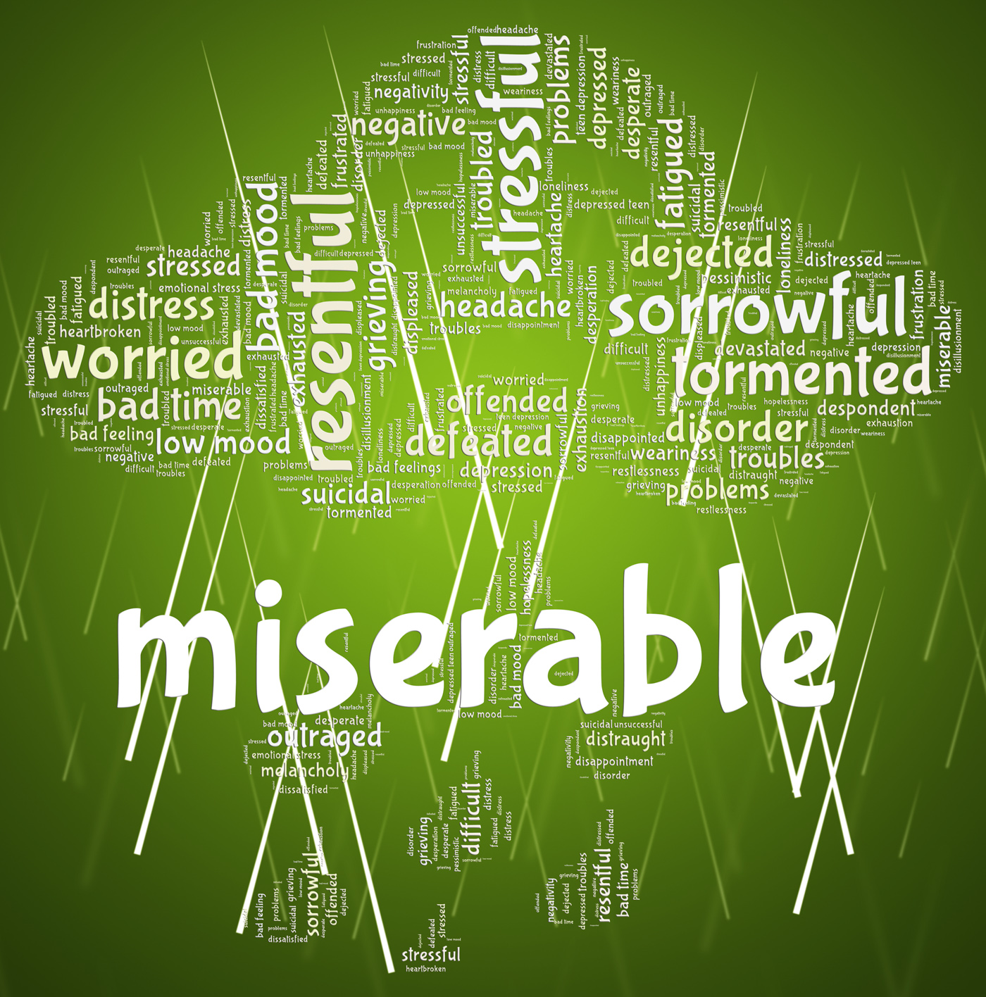 Miserable Word Indicates Grief Stricken And Desolate, Brokenhearted, Sorrowful, Melancholy, Miserable, HQ Photo