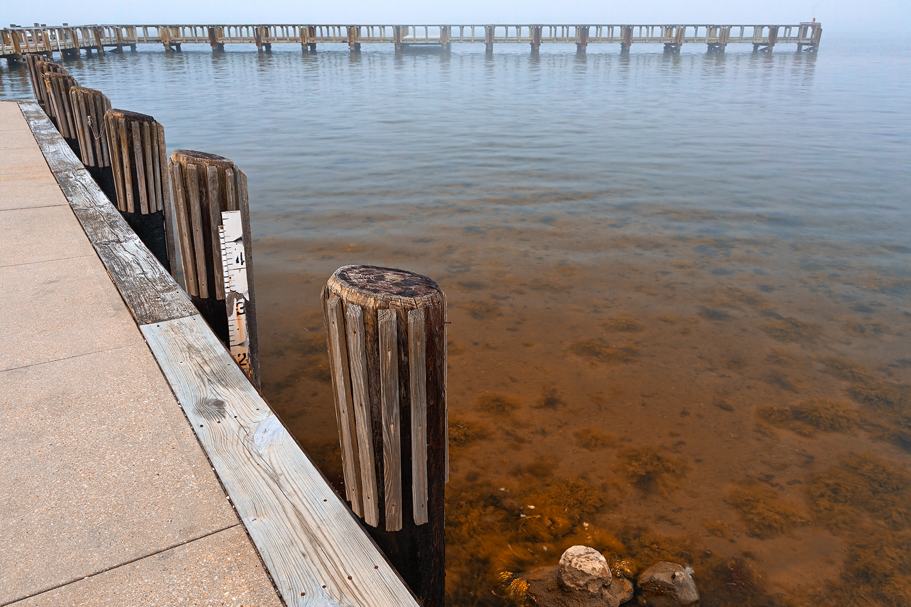 Misty assateague pier - hdr photo
