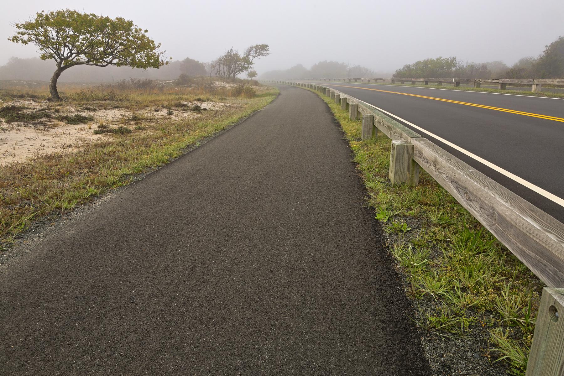 Misty assateague route - hdr photo
