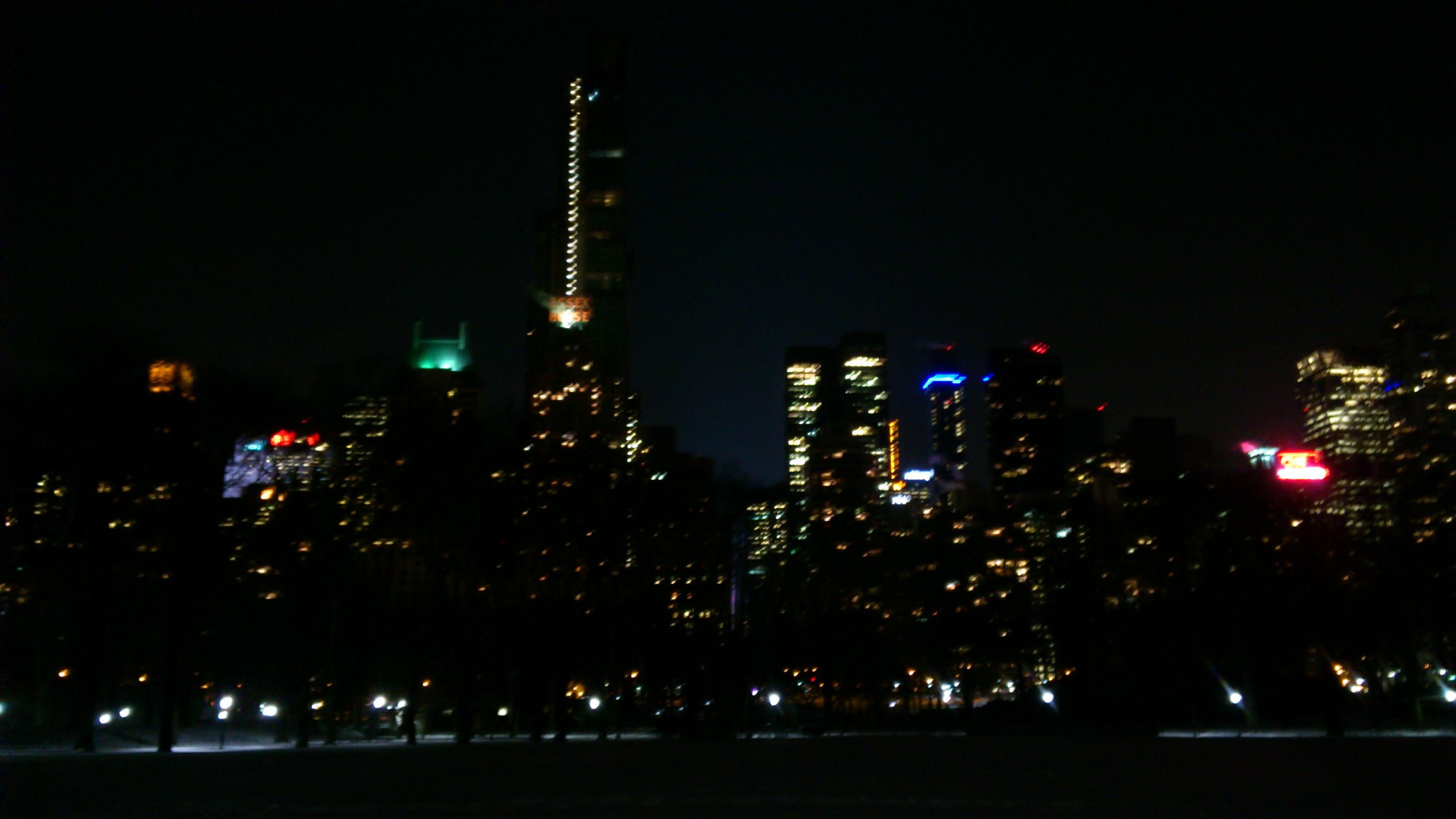 Mobilfoto. Central park natt, City, Nacht, Natt, New york, HQ Photo