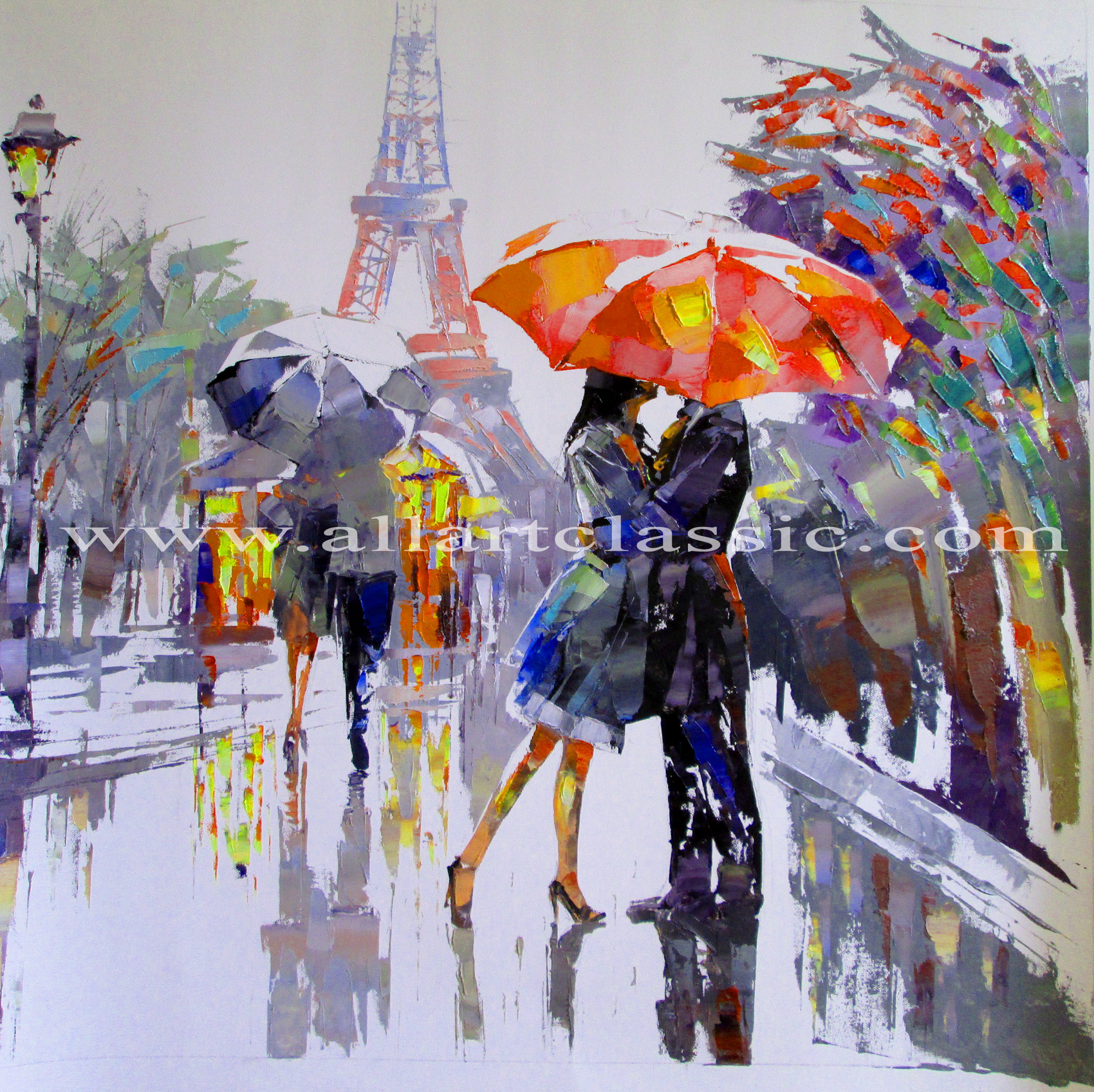 Cheap Paintings for Sale - Rainy Day in Paris, Modern Art