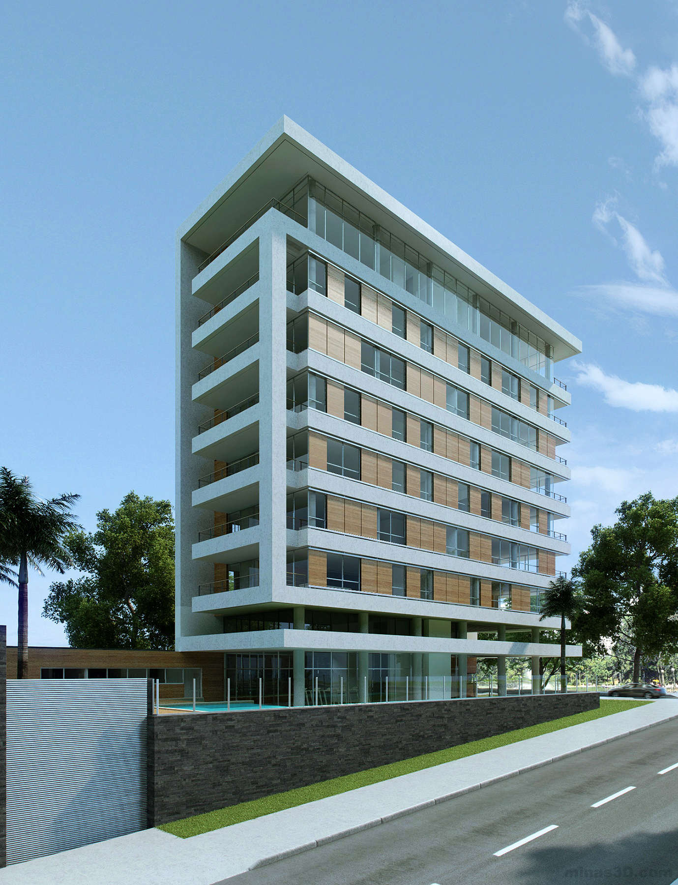 Modern Residential Building – CG Art and Science