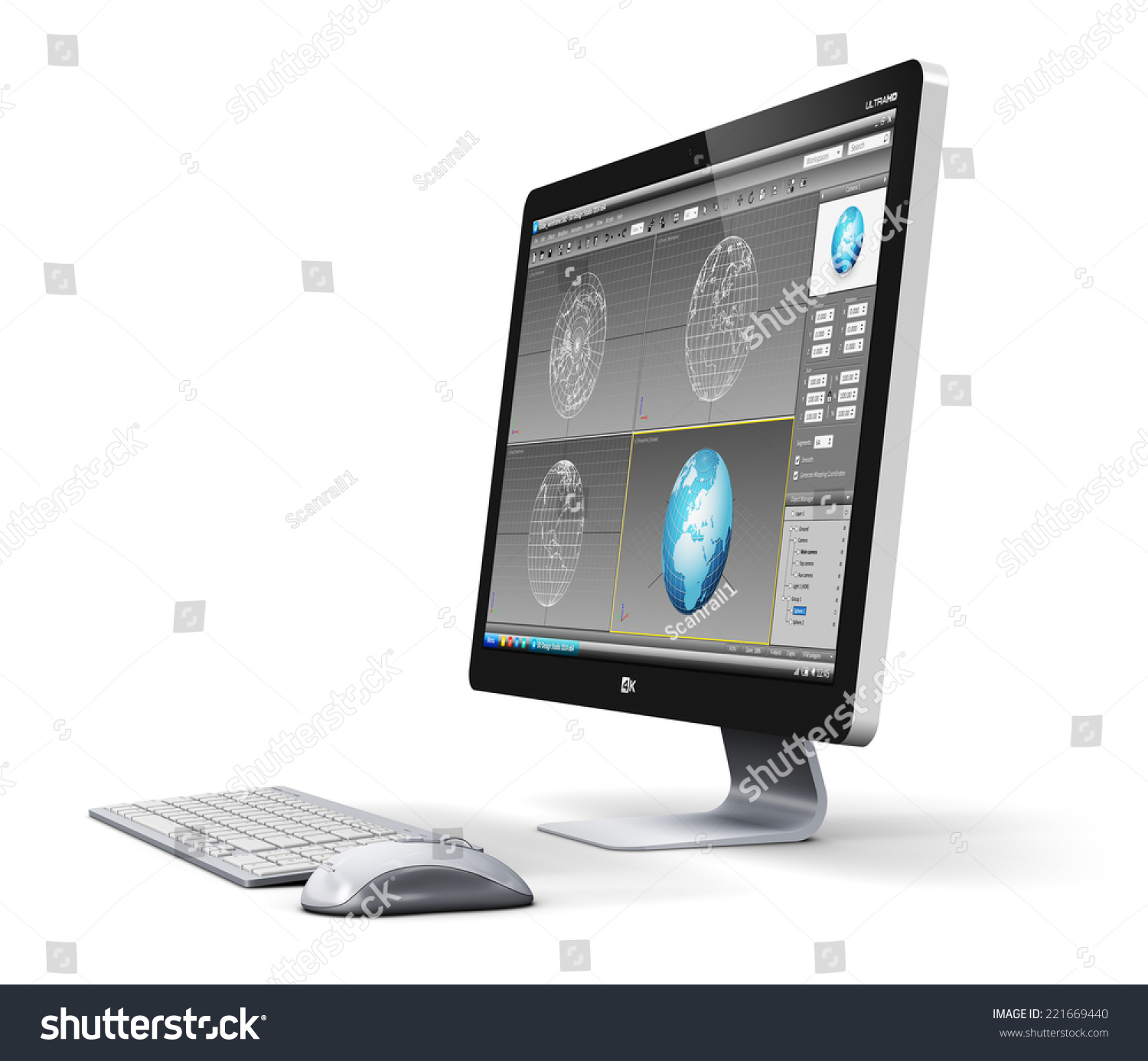 Modern electronic desktop photo