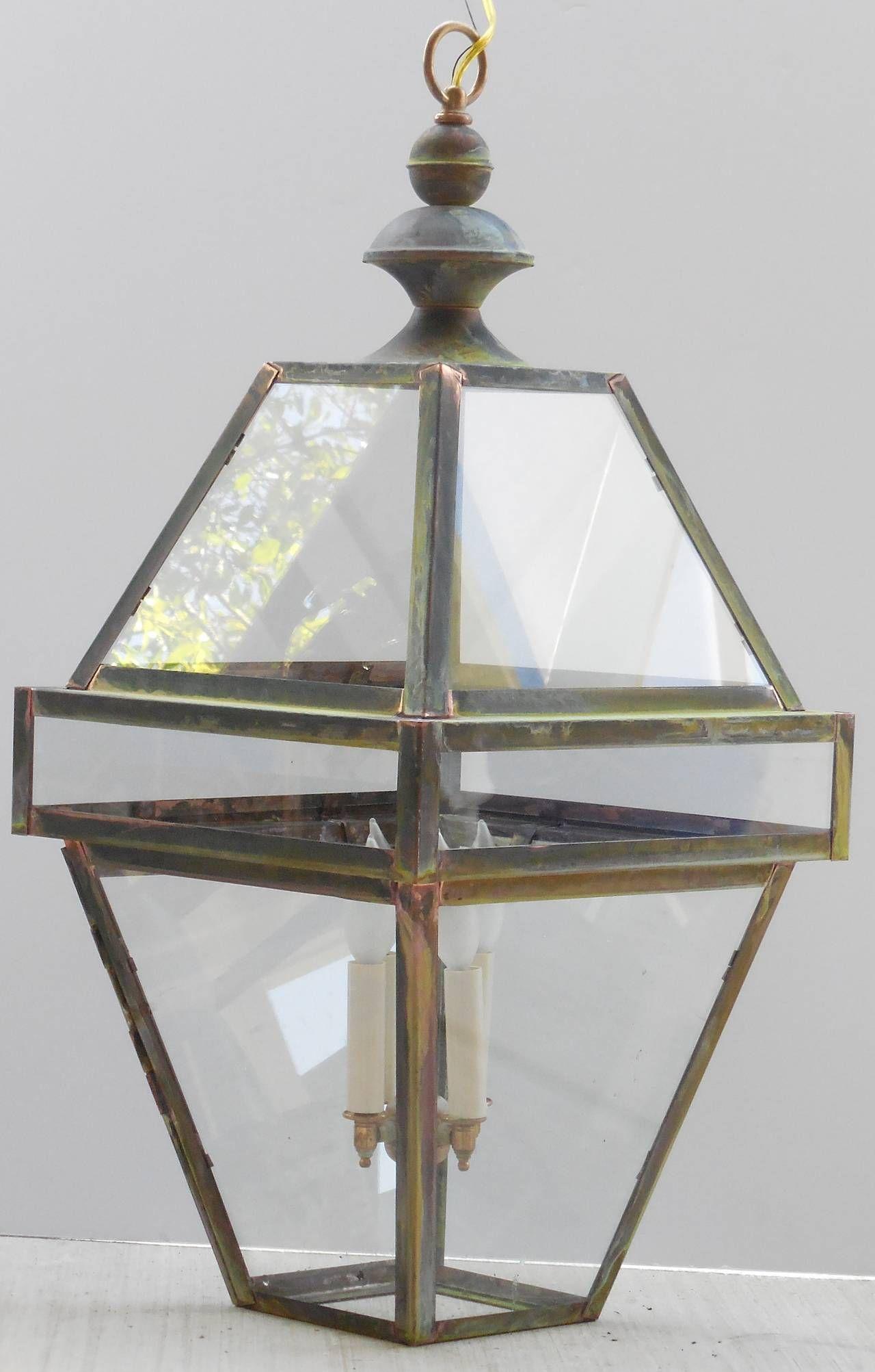 Four Sides Hanging Copper Lantern | Copper lantern