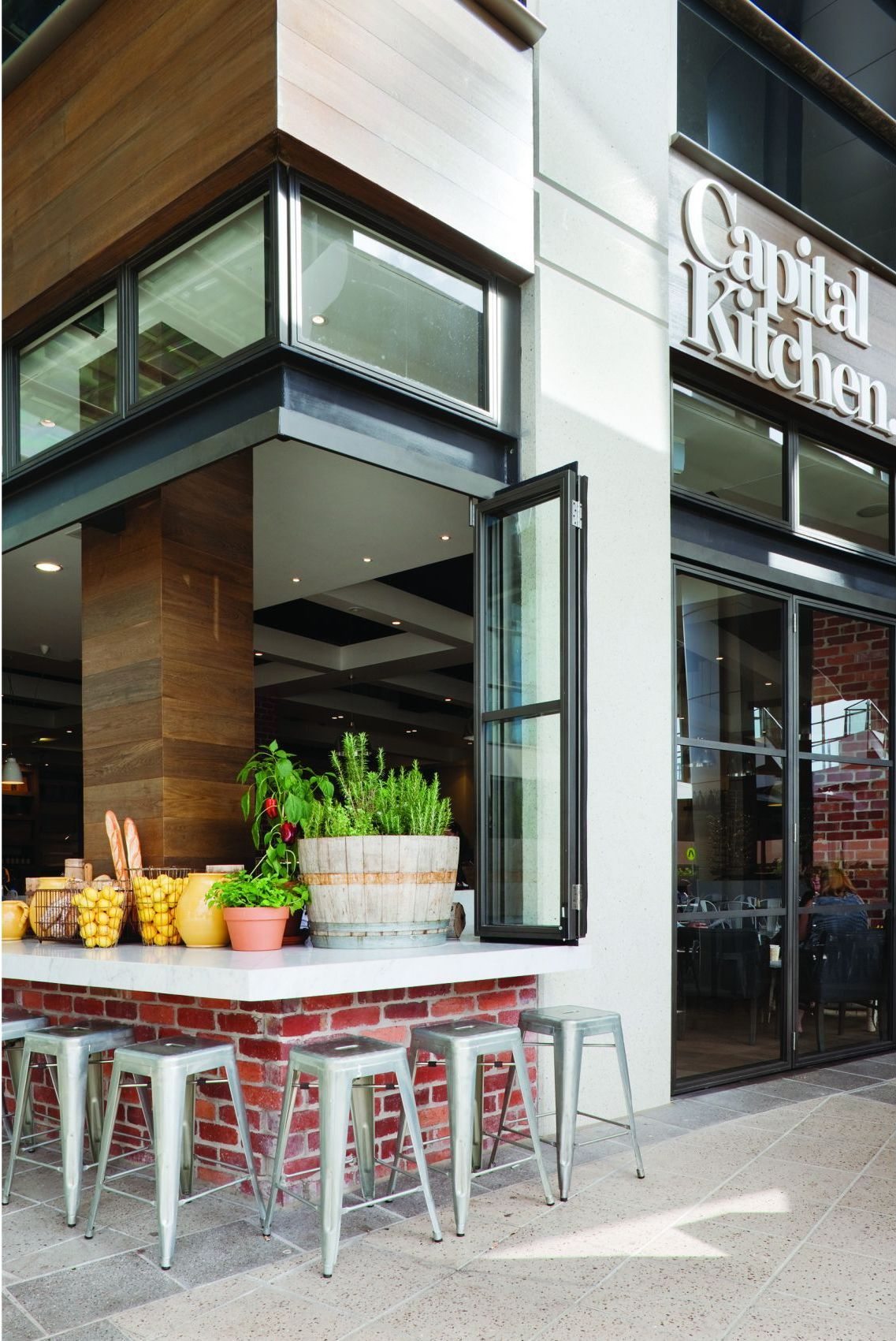 outside bar of Clean and Modern Cafe with Home Style Design | Home ...