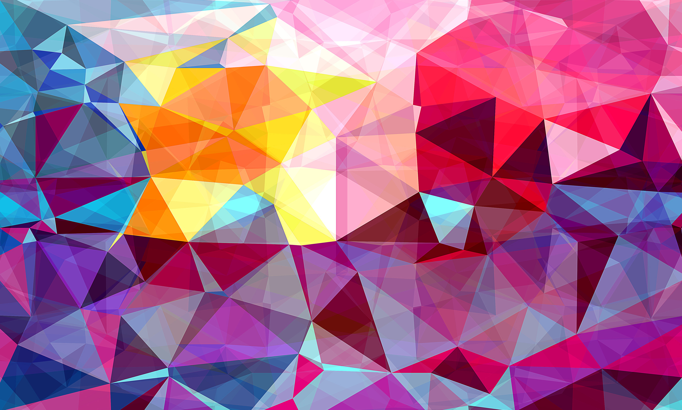 Blue And Yellow Wallpaper Non Woven Wallpaper Triangles: Free Photo: Modern Triangle Abstract Background
