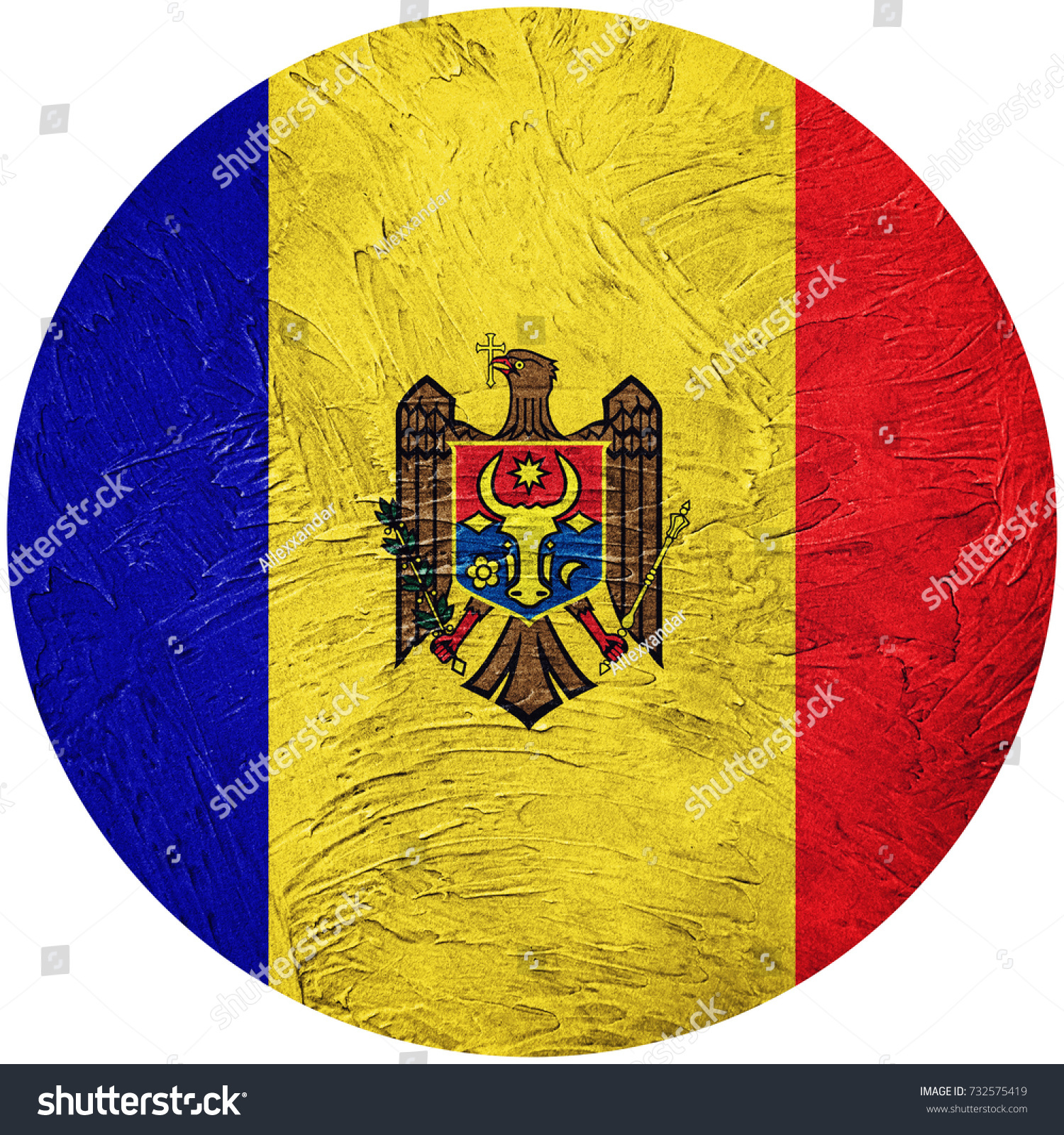 Grunge Moldova Flag Moldova Button Flag Stock Photo (Royalty Free ...