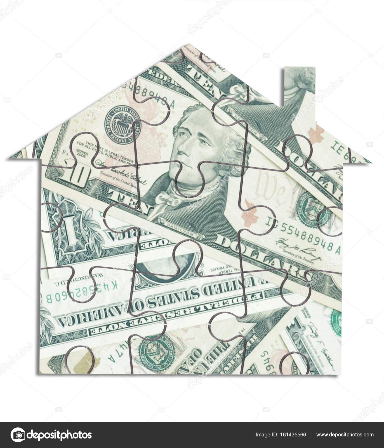 Money house jigsaw — Stock Photo © nupix #161435566