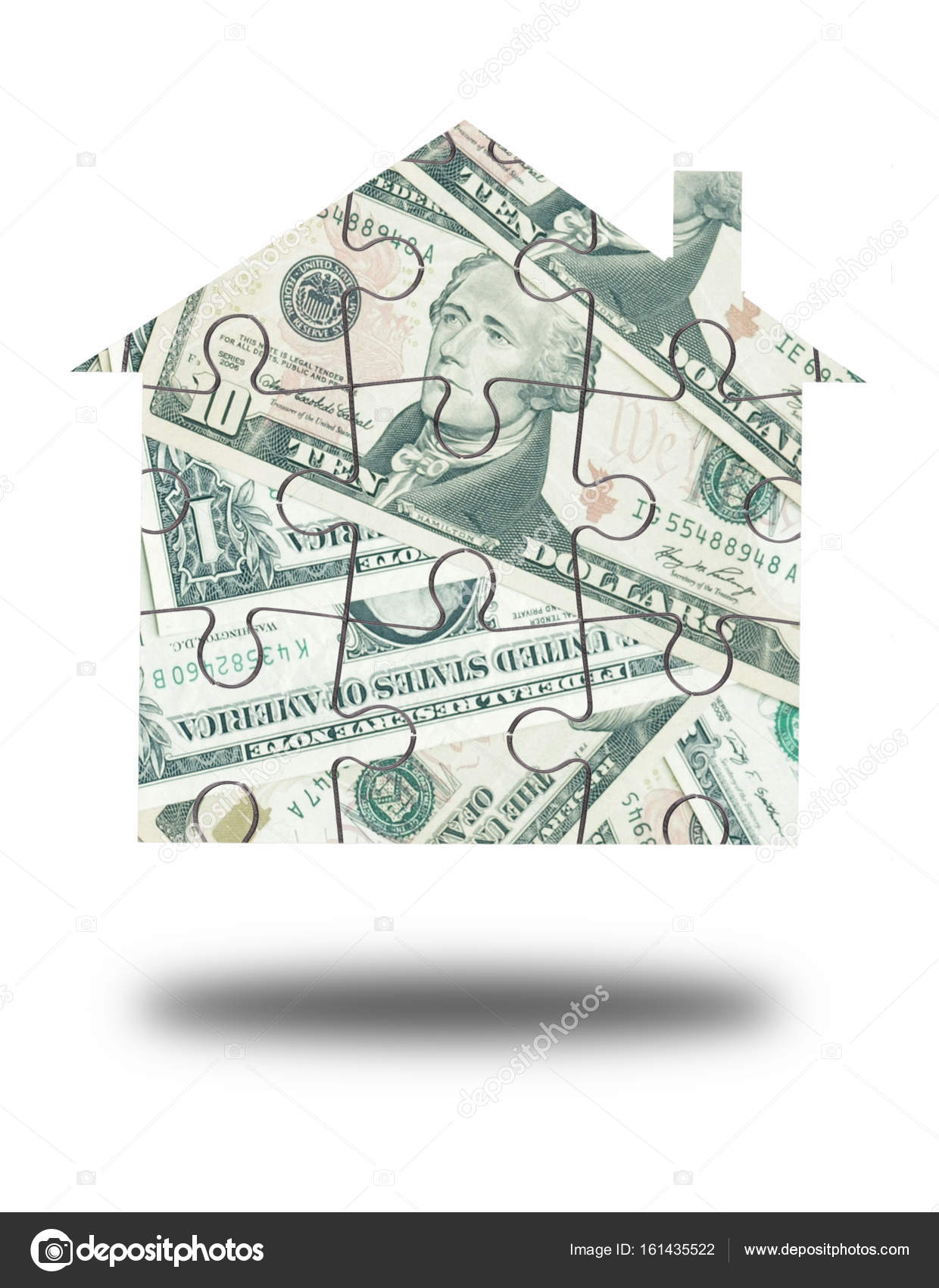 Money house jigsaw — Stock Photo © nupix #161435522