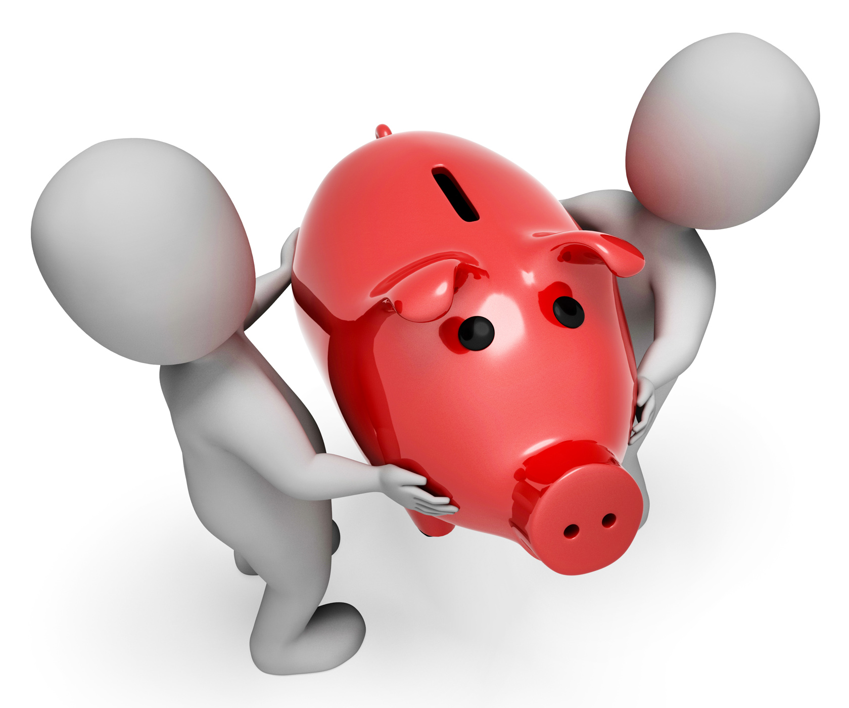 Money Save Indicates Piggy Bank And Finances 3d Rendering, Moneybox, Wealth, Savings, Saving, HQ Photo
