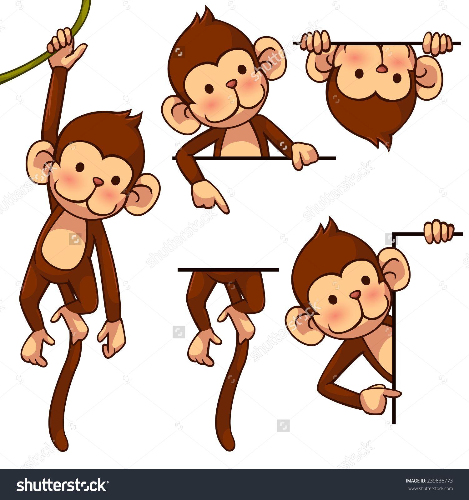 Monkey ilustration photo